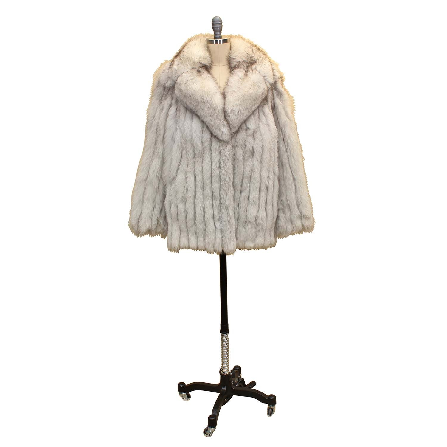 Women's Vintage Silver Fox Fur Jacket