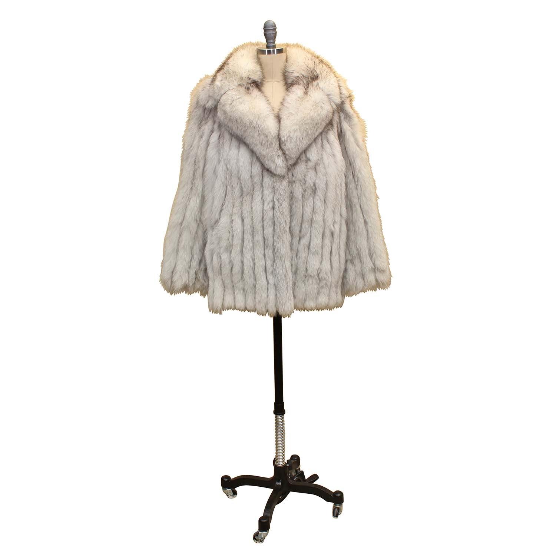 Women's Vintage Silver Fox Fur Jacket