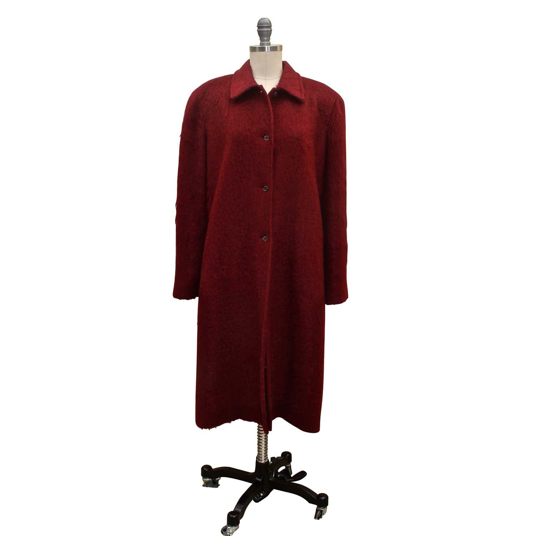 Women's Anne Klein Red Mohair Coat