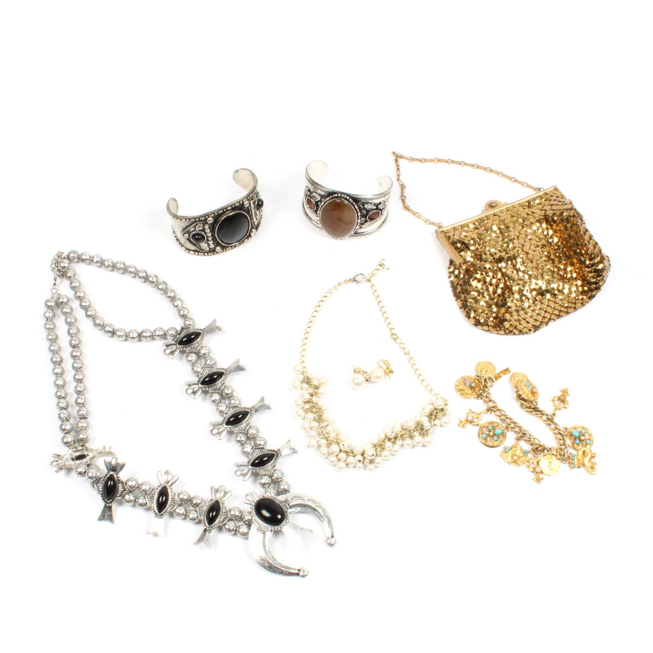 Costume Jewelry and Clutch