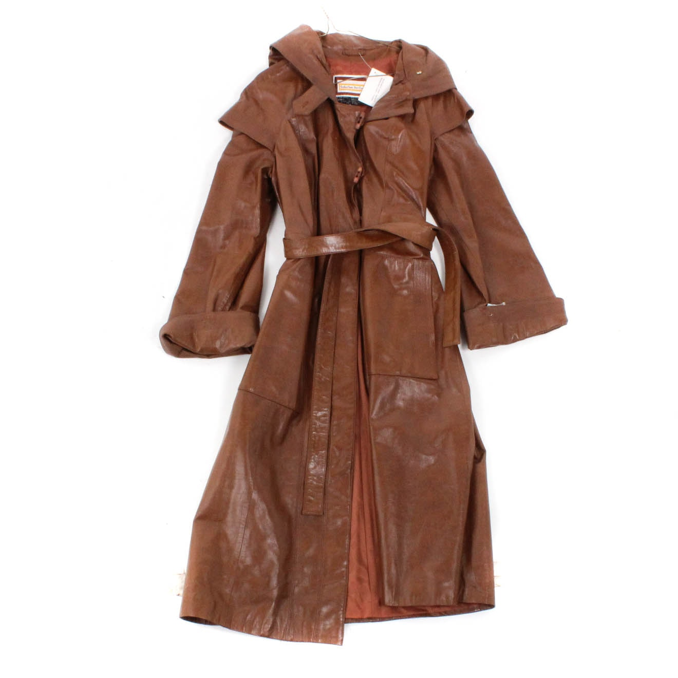 Women's Vintage Leather Coat