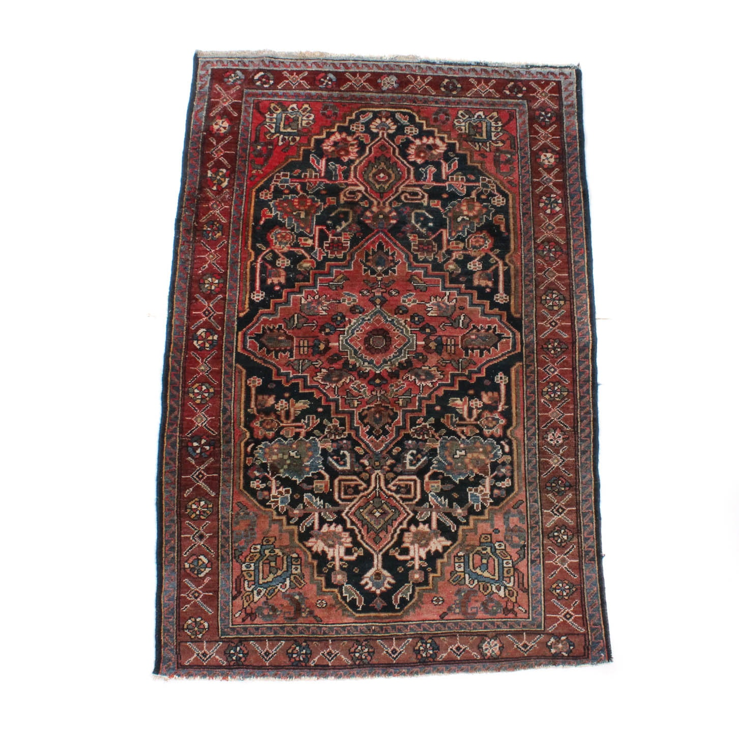 Antique Hand-Knotted Antique Persian Malayer Rug