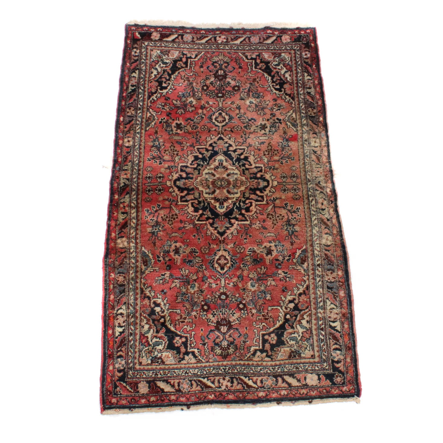 Semi-Antique Hand-Knotted Persian Mahal Rug