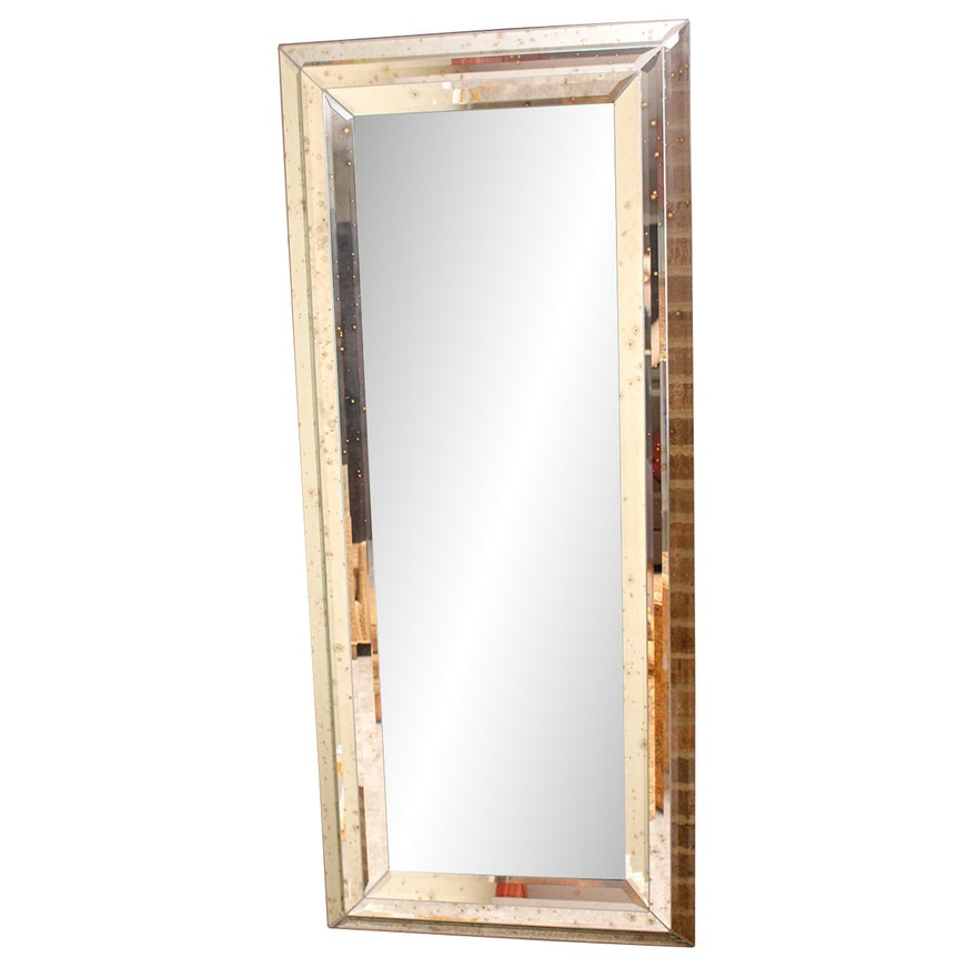 Full-Length Mirror with Antique Style Beveled Frame