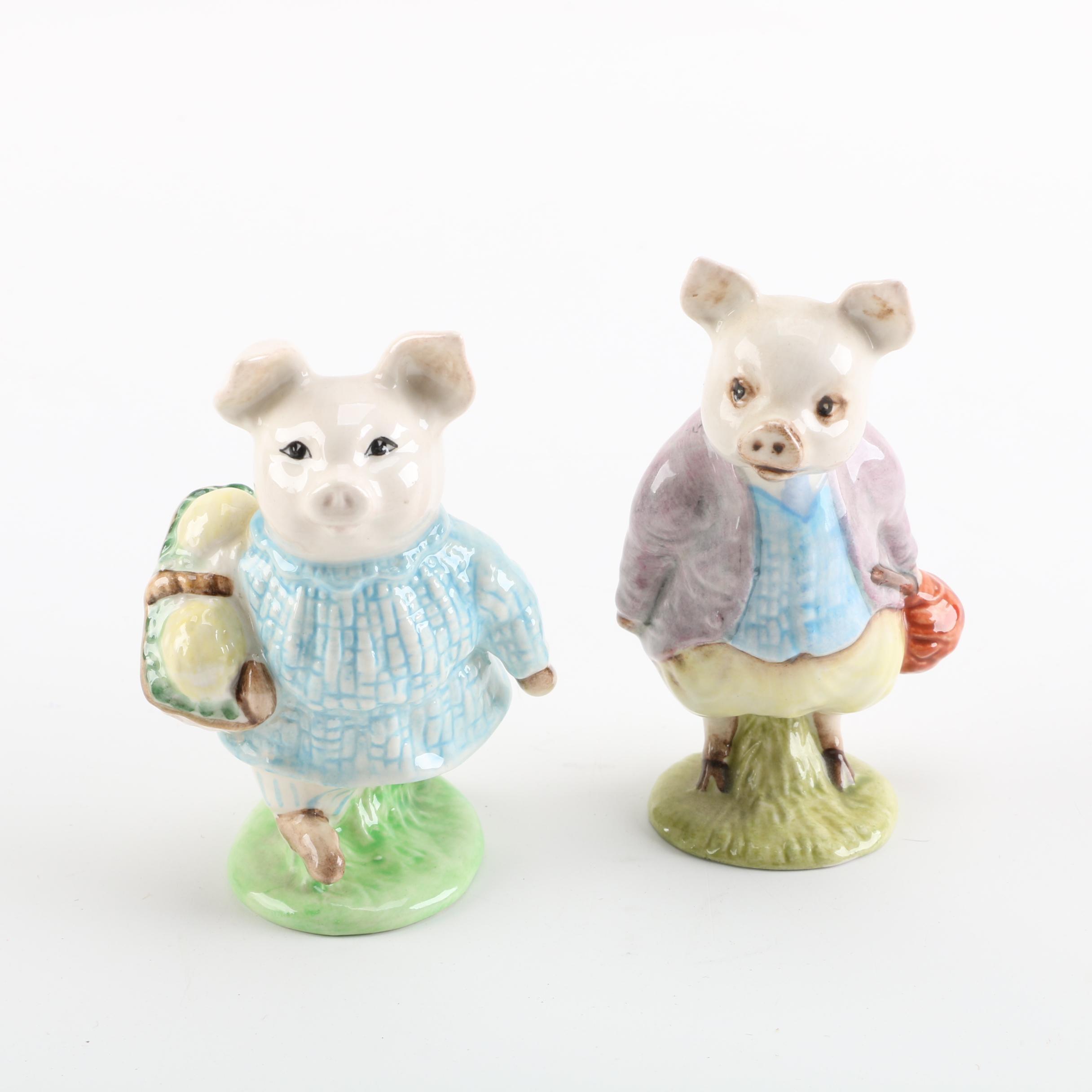 Beswick's Beatrix Potter Ceramic Pig Figurines