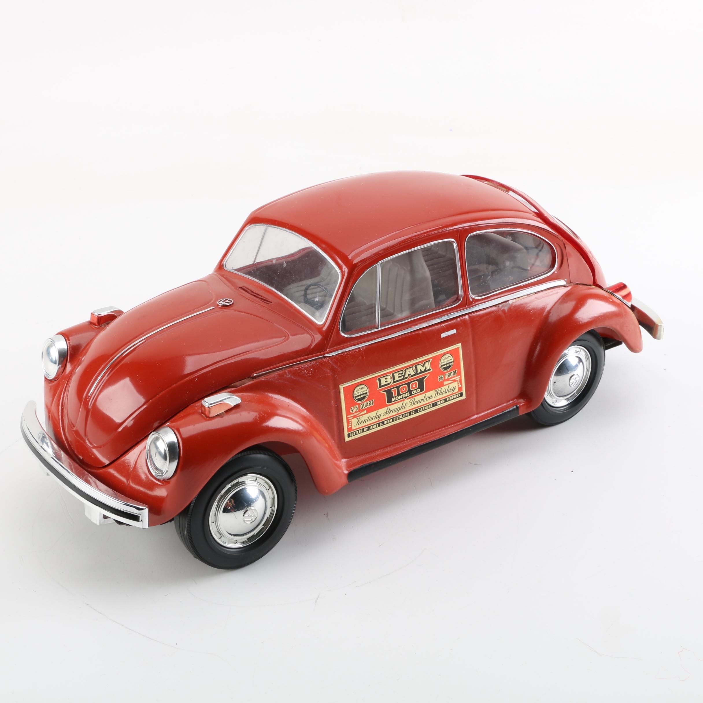 Vintage 1970' Jim Beam Volkswagen Beetle Decanter