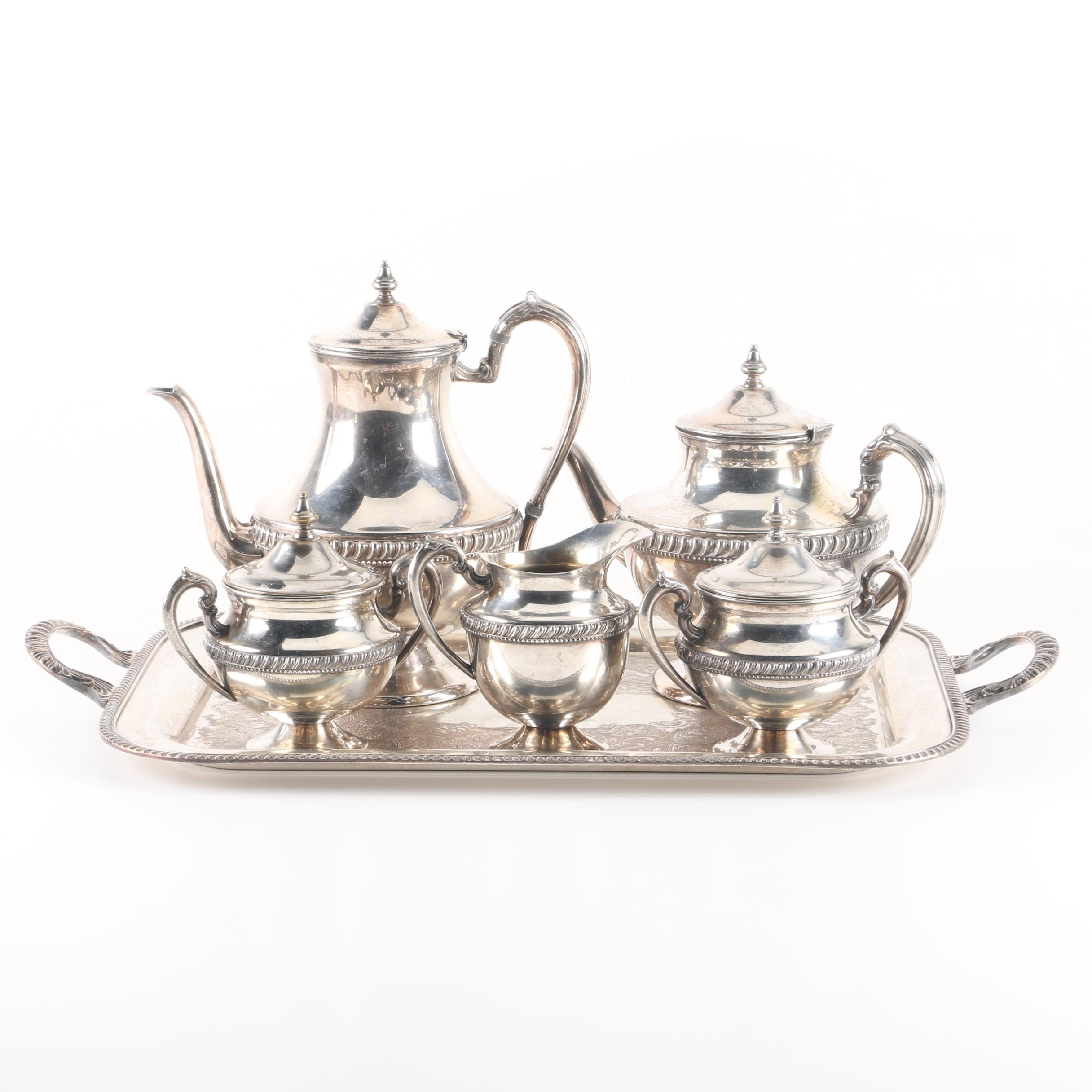 Lehman Brothers Silverware Silver-Plated Coffee and Tea Service