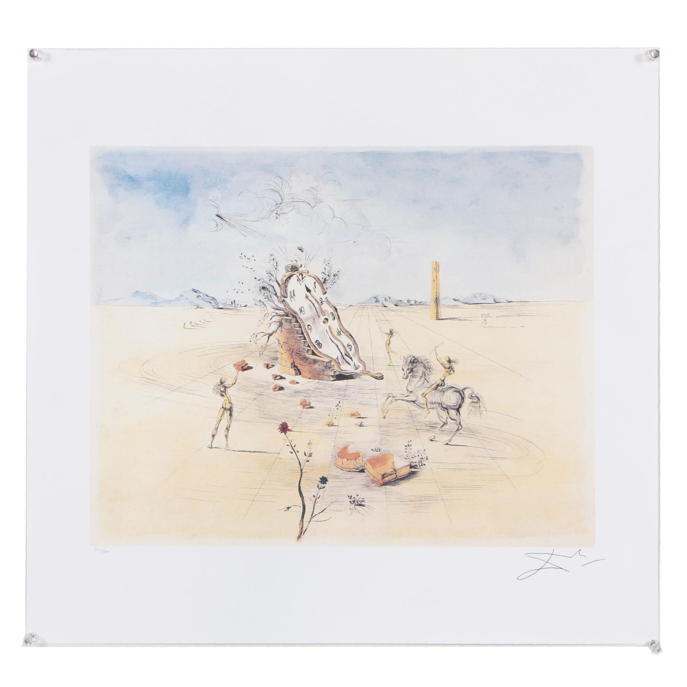 "Limited Edition Offset Lithograph After Salvador Dali ""Cosmic Horseman"""
