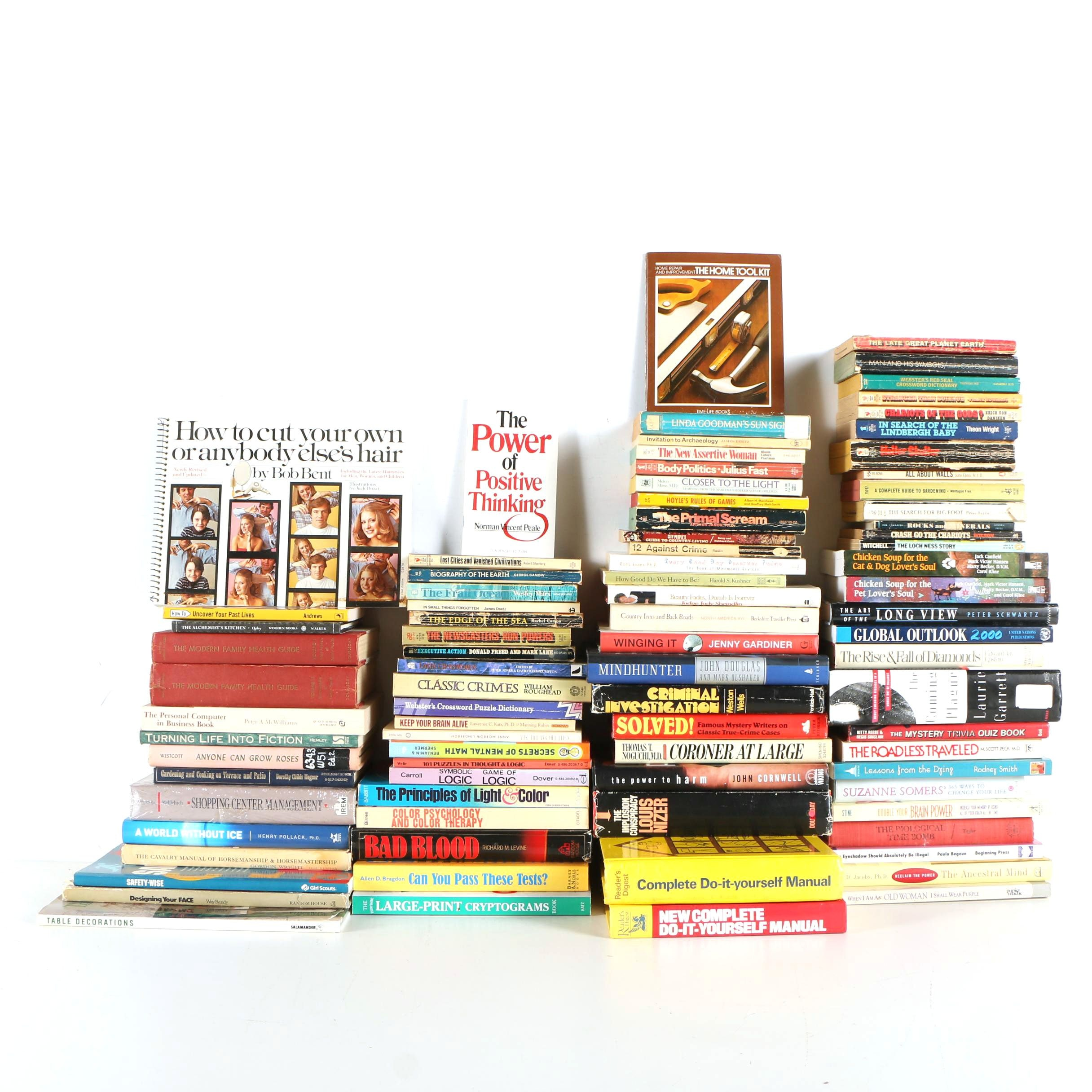 Assorted Books Including Self-Help, Home Improvement, Health, and More