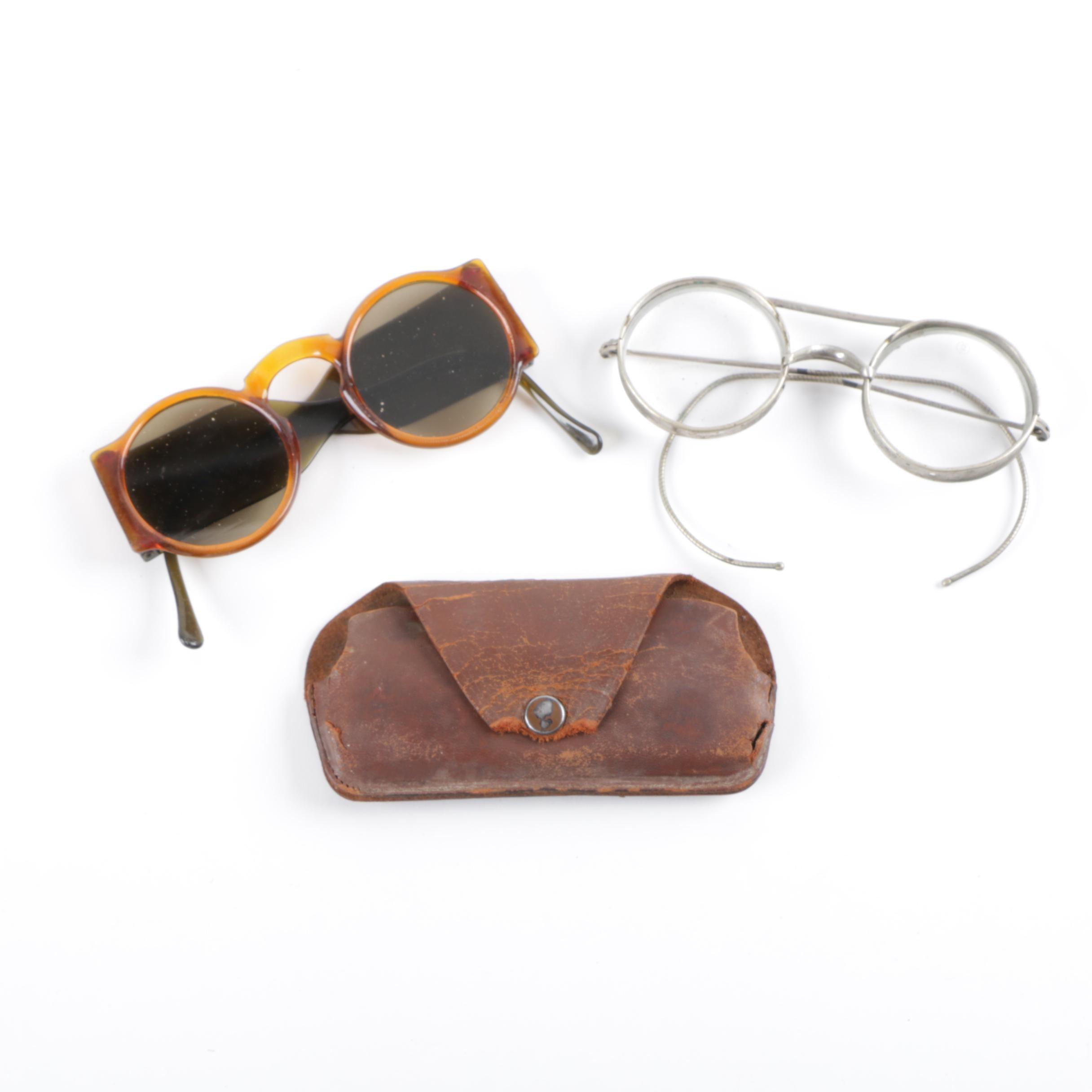 Semi-Antique Spectacles and Bakelite Sunglasses