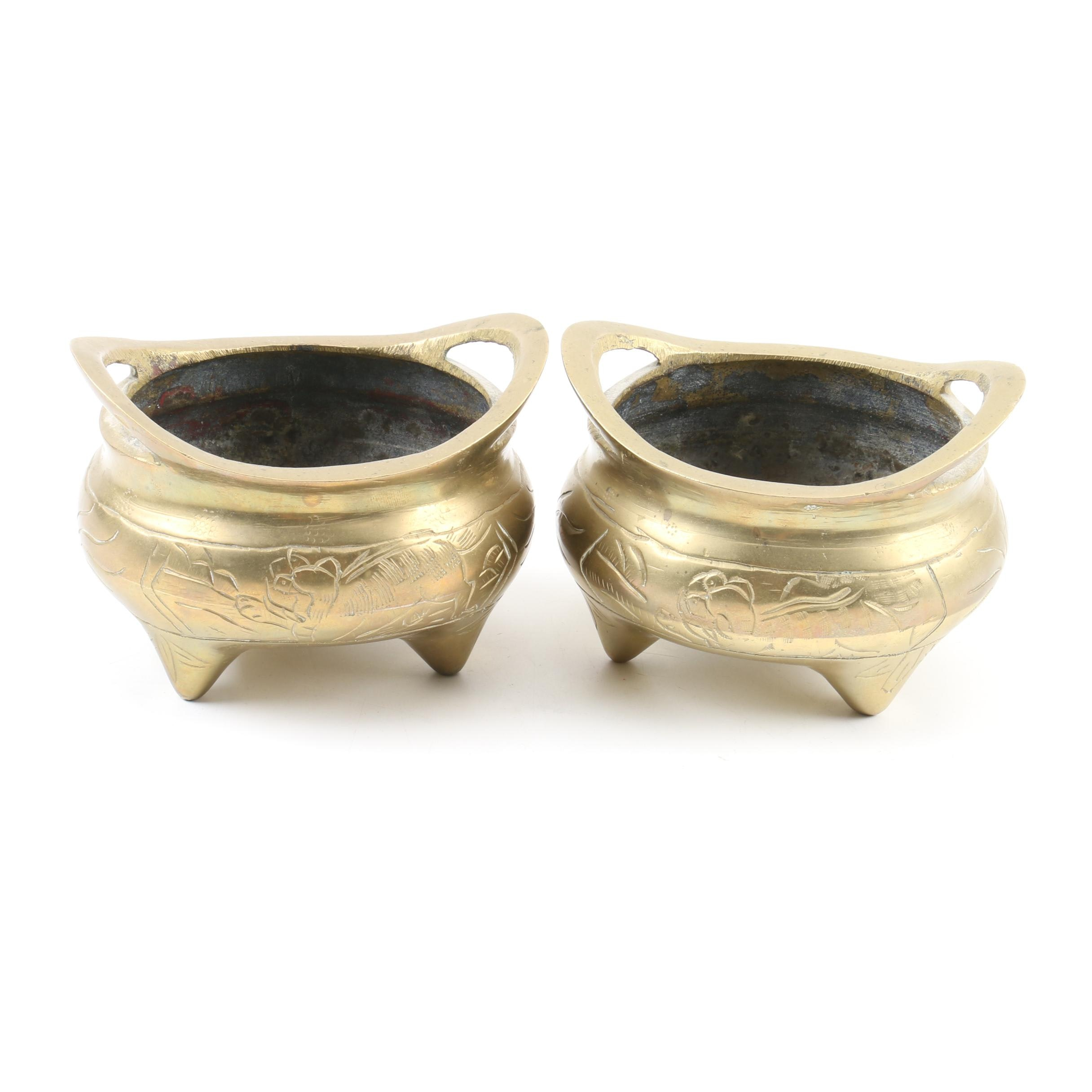 Chinese Brass Censers