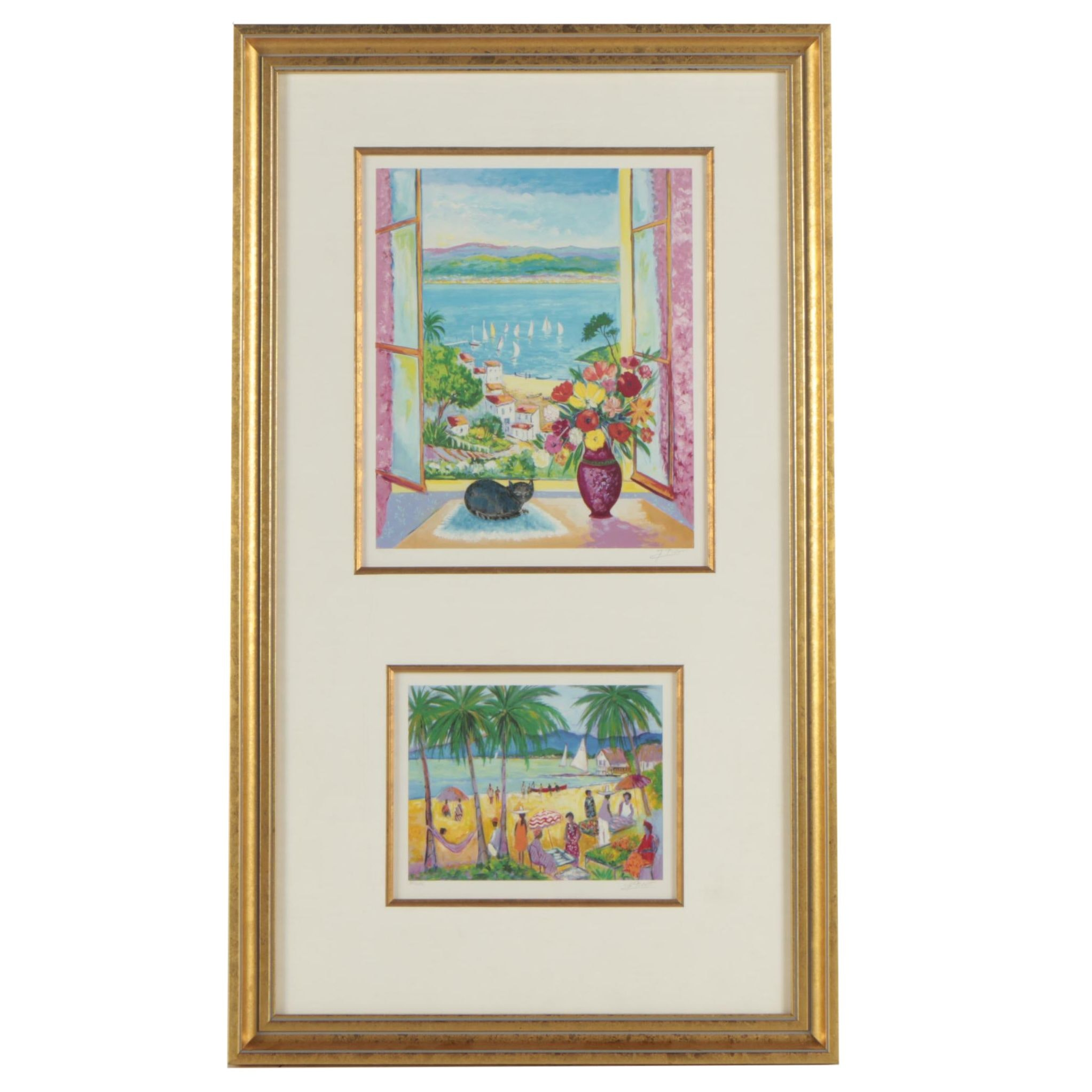Jean-Claude Picot Limited Edition Seriolithographs of Coastal Scenes