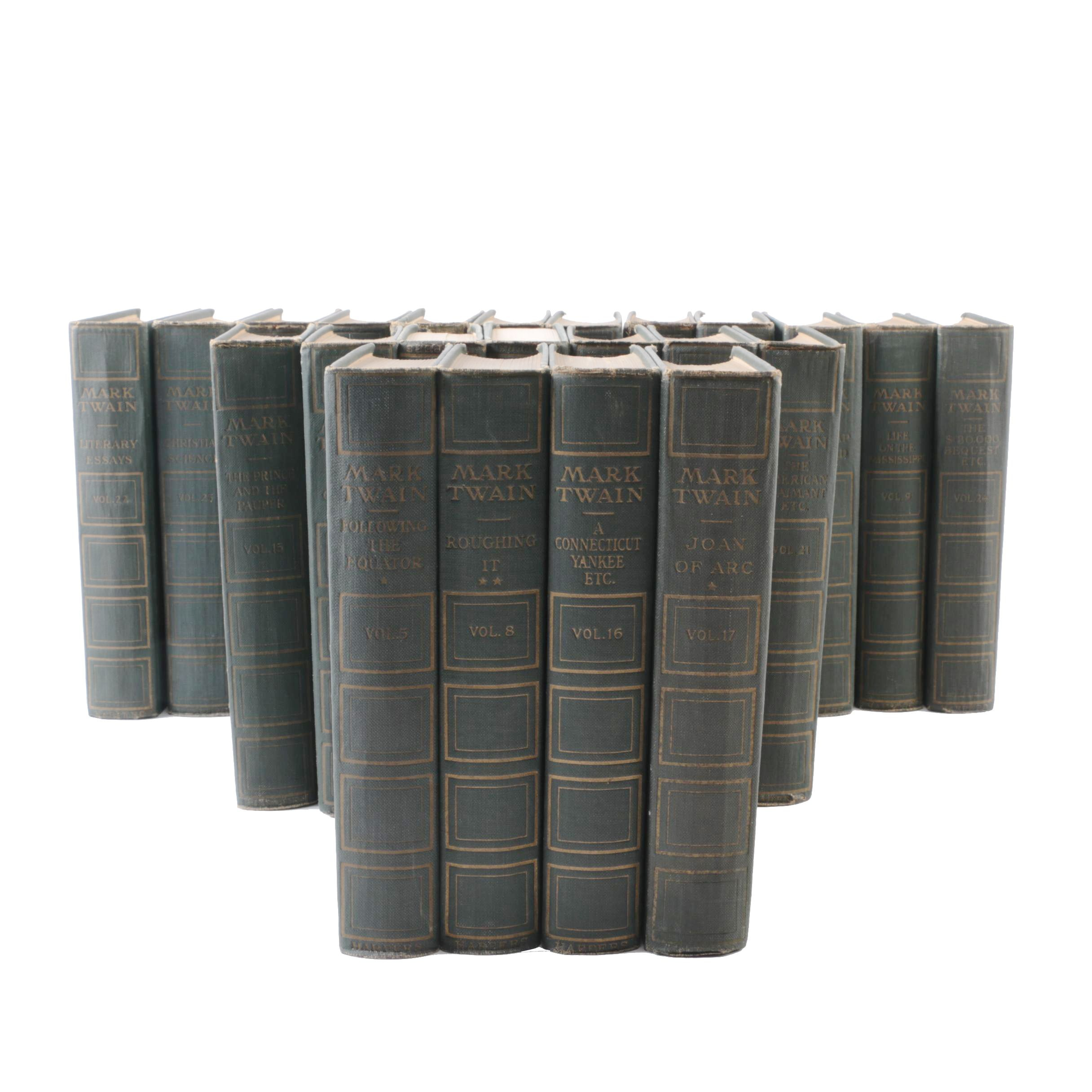 1910s Multi-Volume Set of Works by Mark Twain