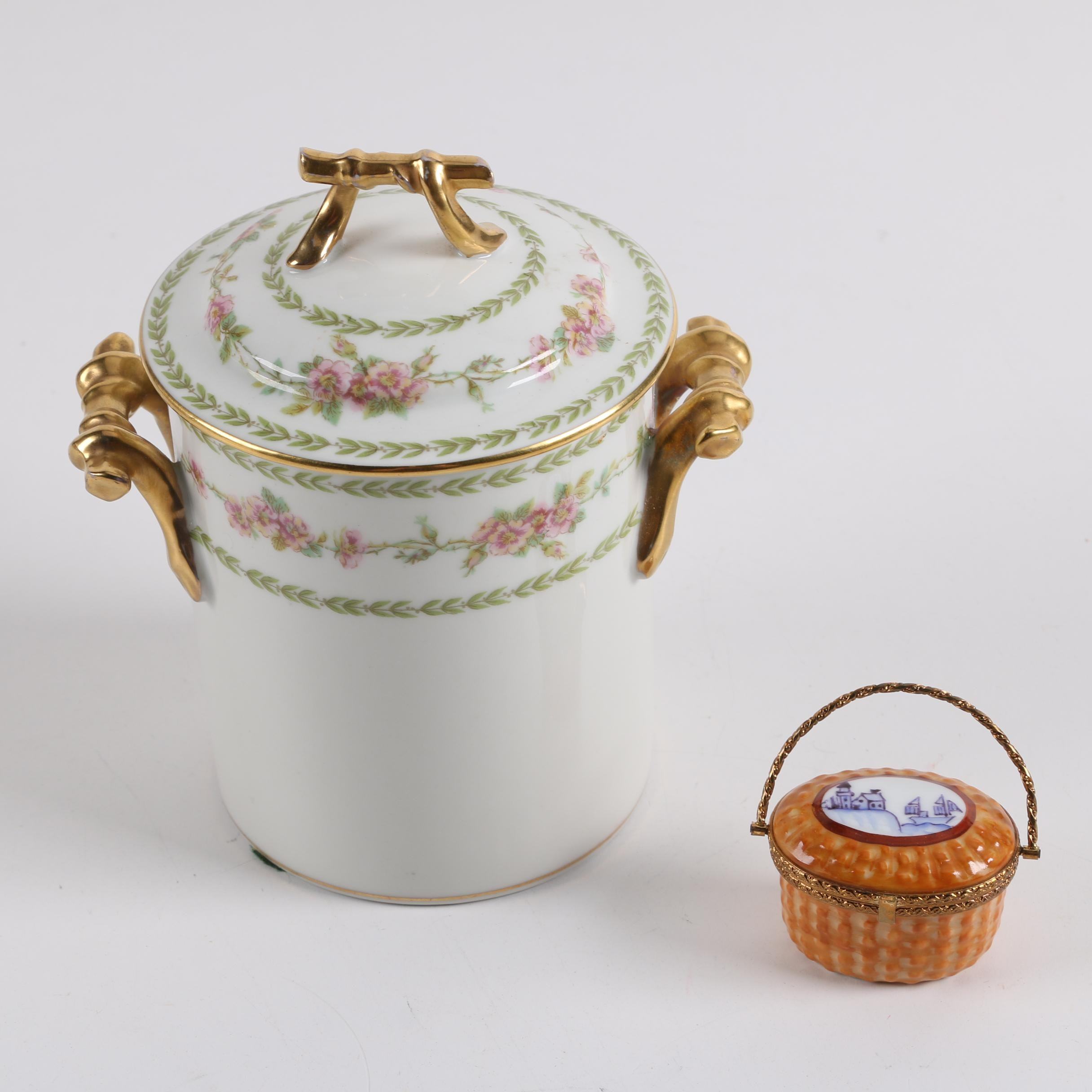 Haviland Limoges Covered Cache Pot And Trinket Box