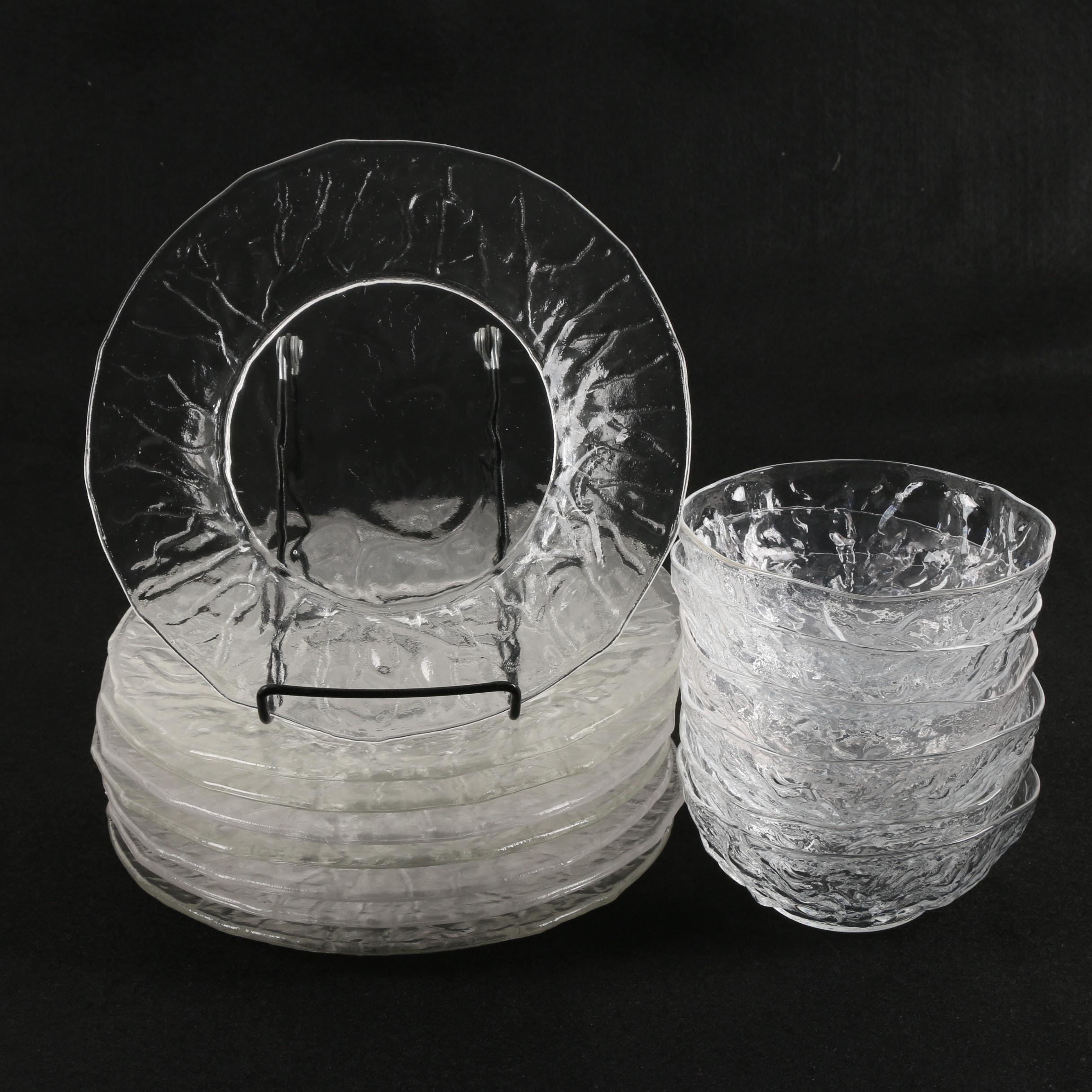 Textured Glass Tableware