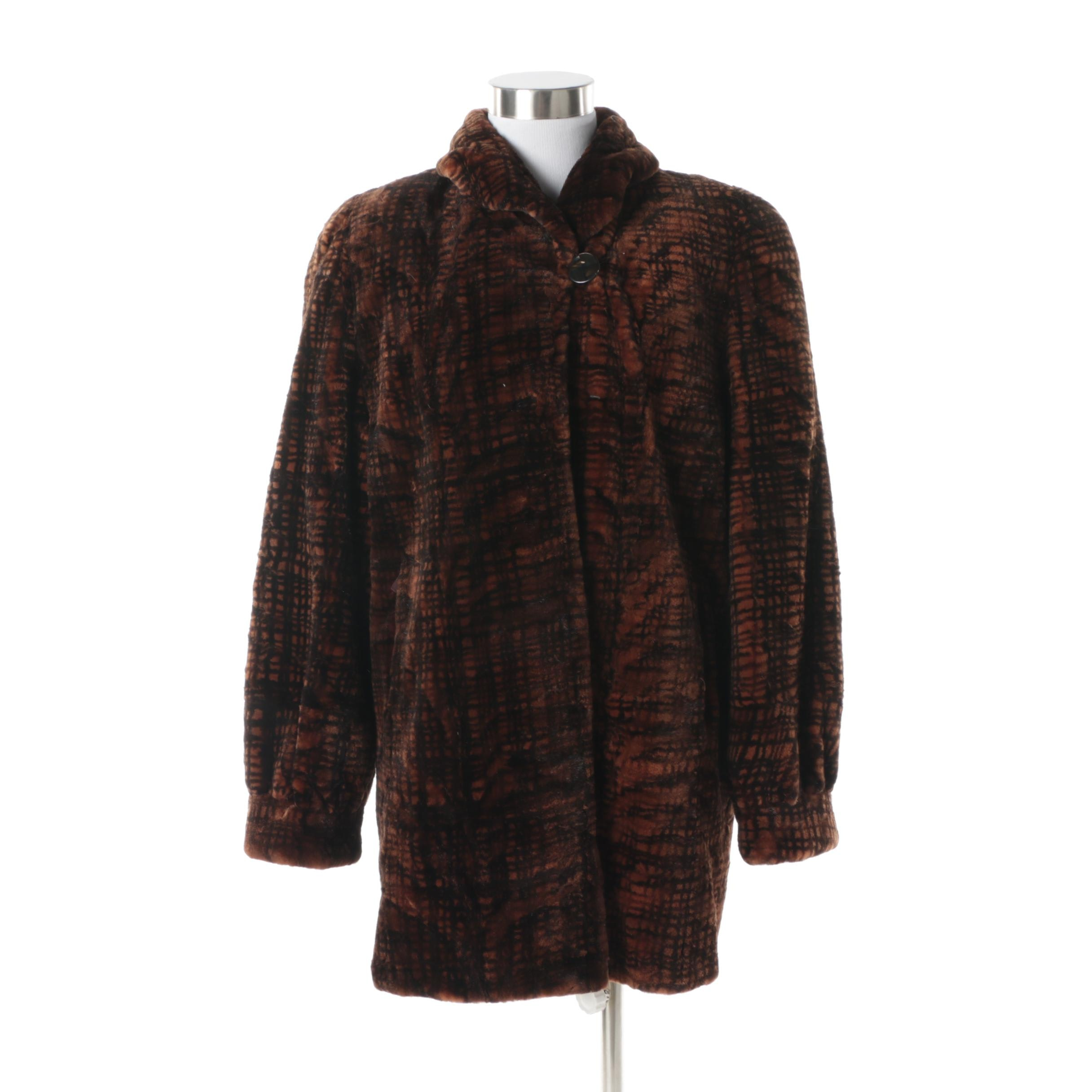 Women's Smith Fine Furs Dyed and Sheared Beaver Fur Coat