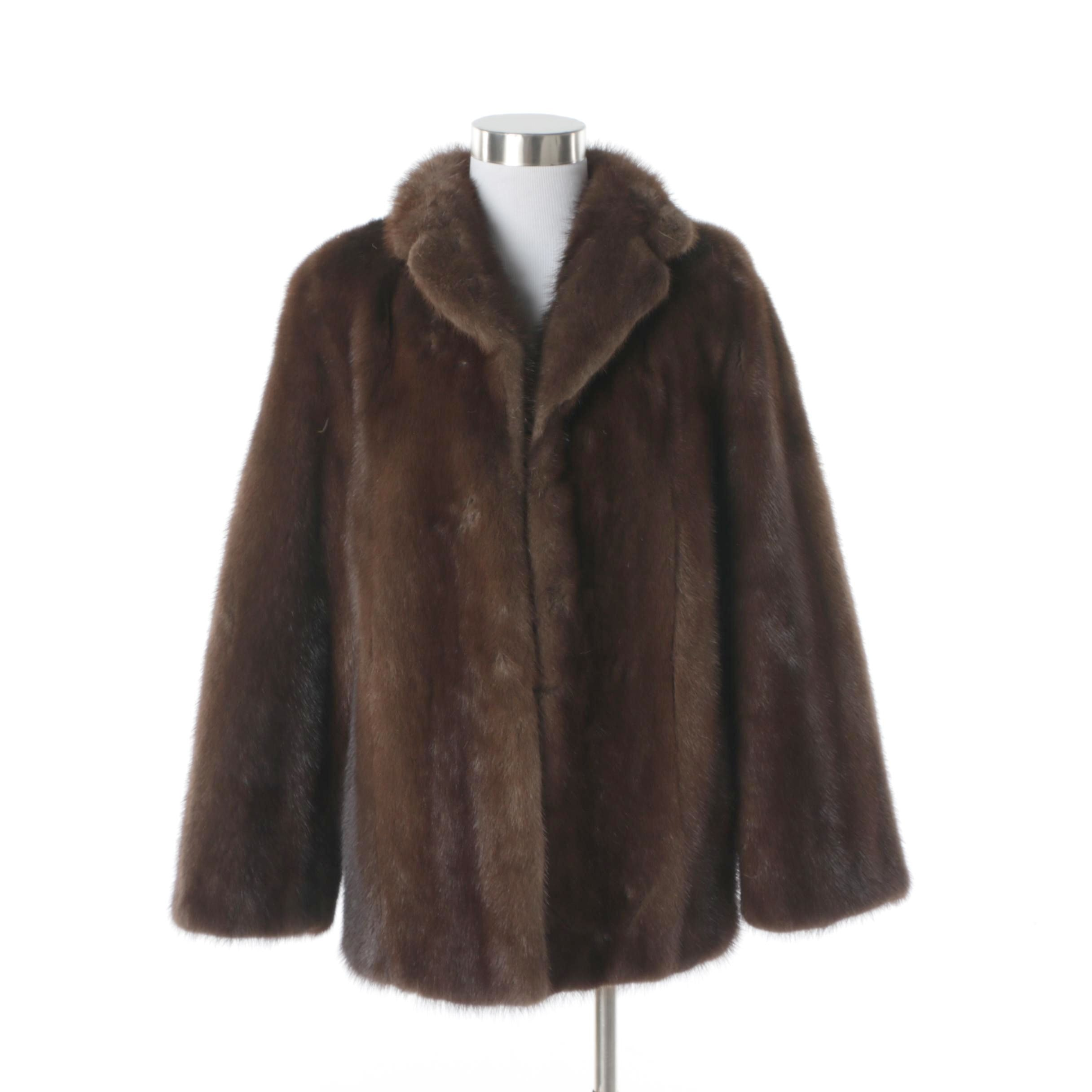 Women's Vintage Brown Mink Fur Coat