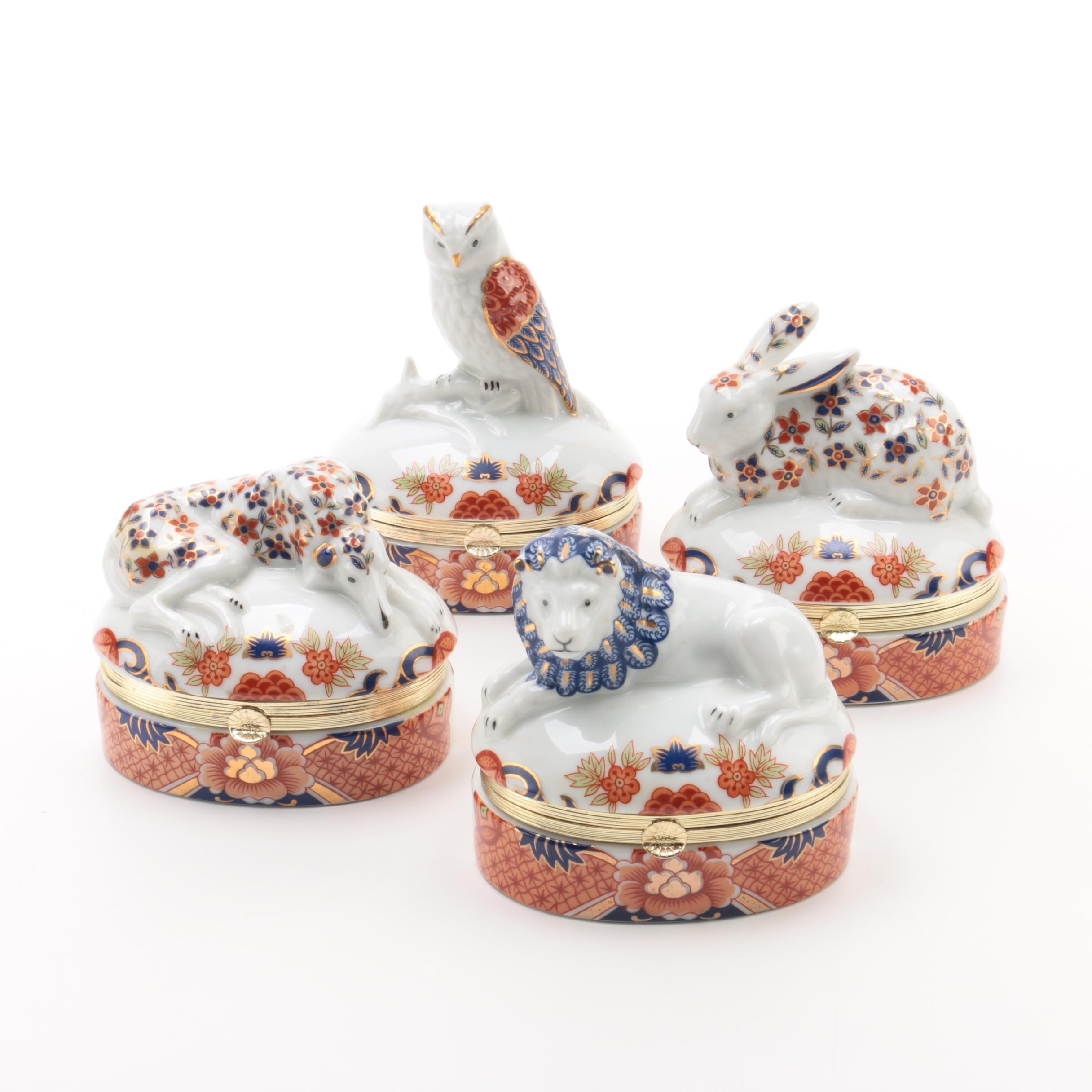 Andrea by Sadek Animal Themed Porcelain Trinket Boxes