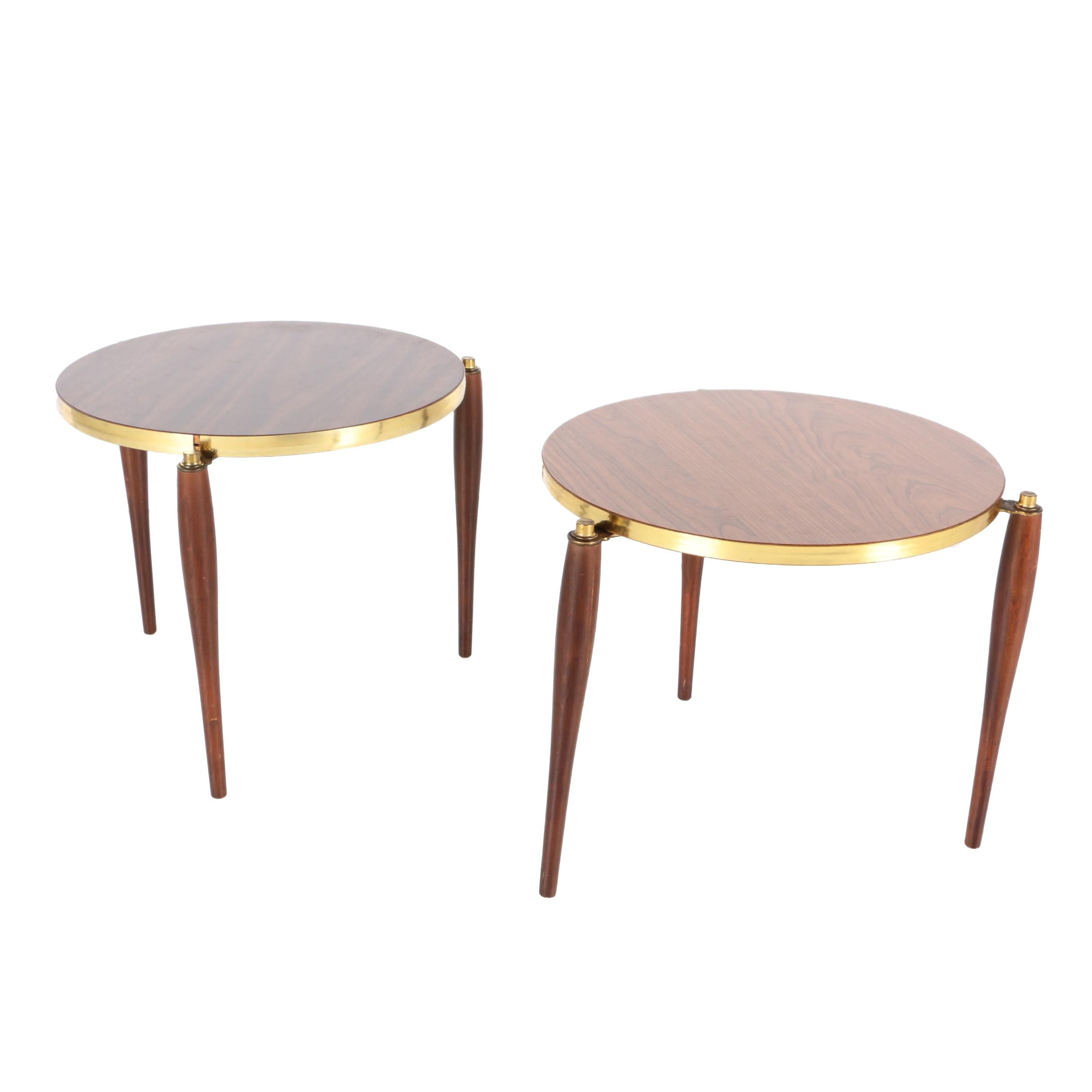 Mid Century Modern Style Laminate Side Tables