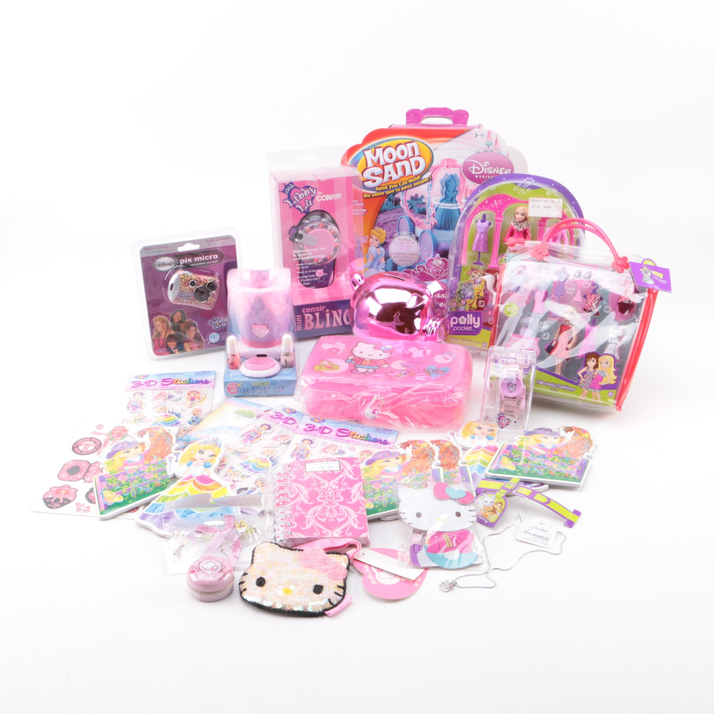Polly Pocket, Hello Kitty, Club Libby Lu and Other Dolls and Toys