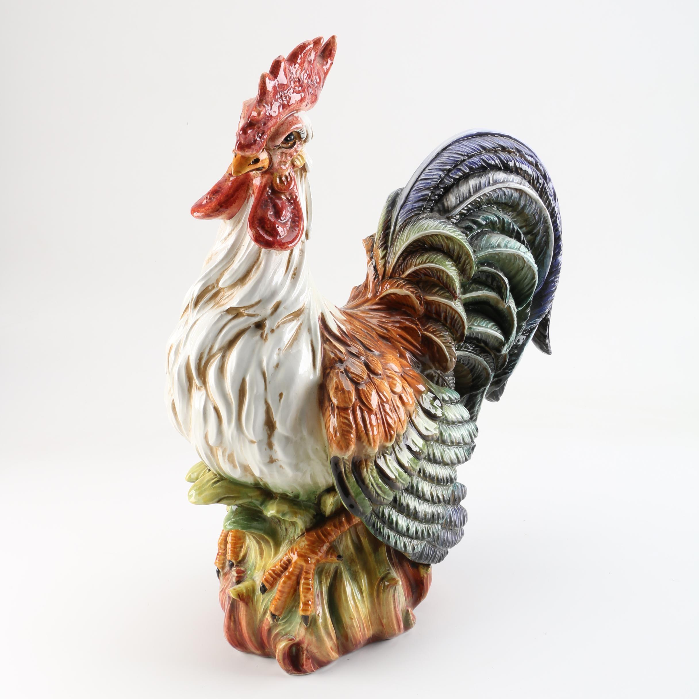 Ceramic Rooster Figure