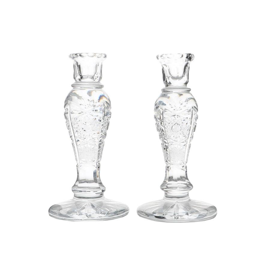 Crystal Pedestal Candlesticks