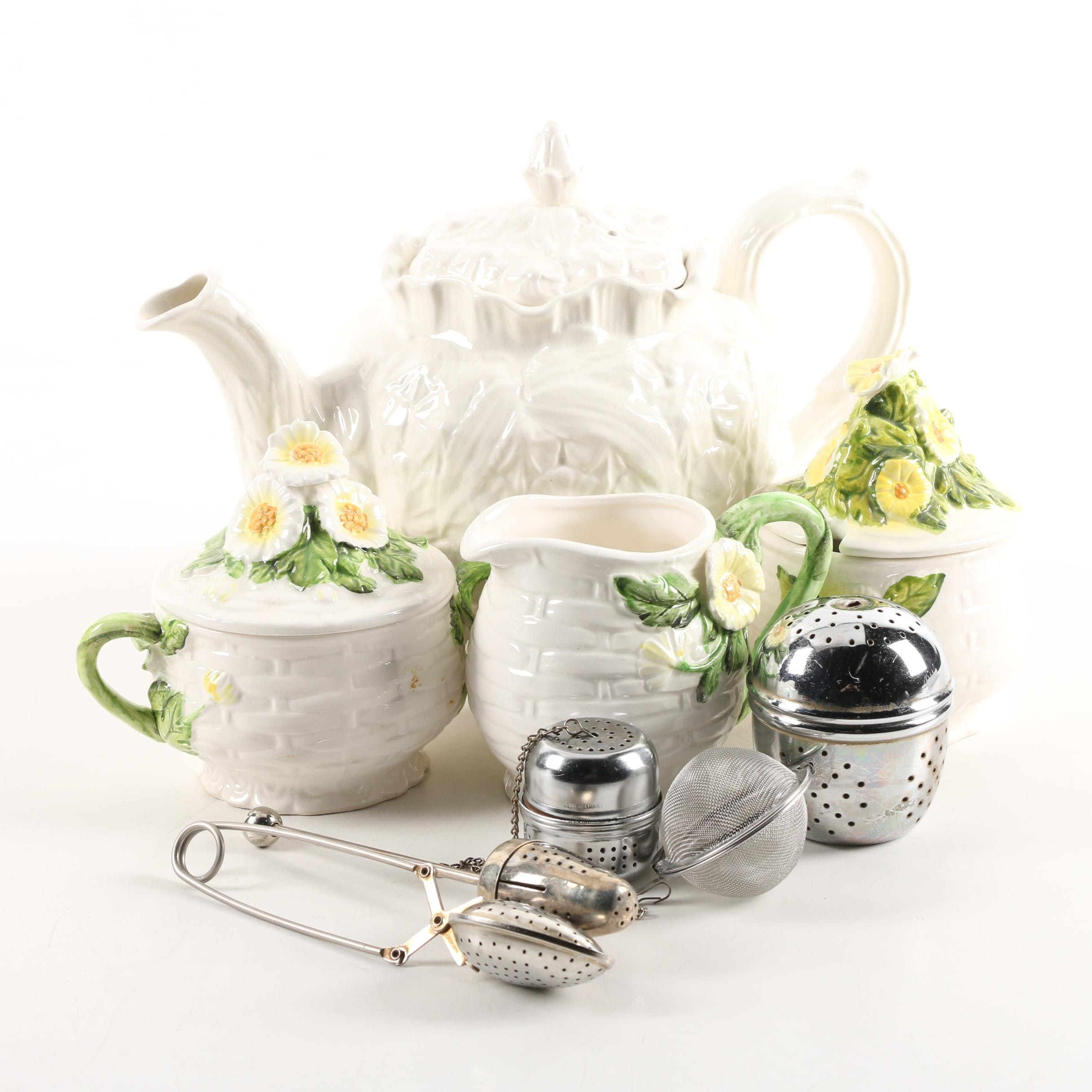 "Ceramic Tableware including Spode ""Imperial Fancies"" Teapot"
