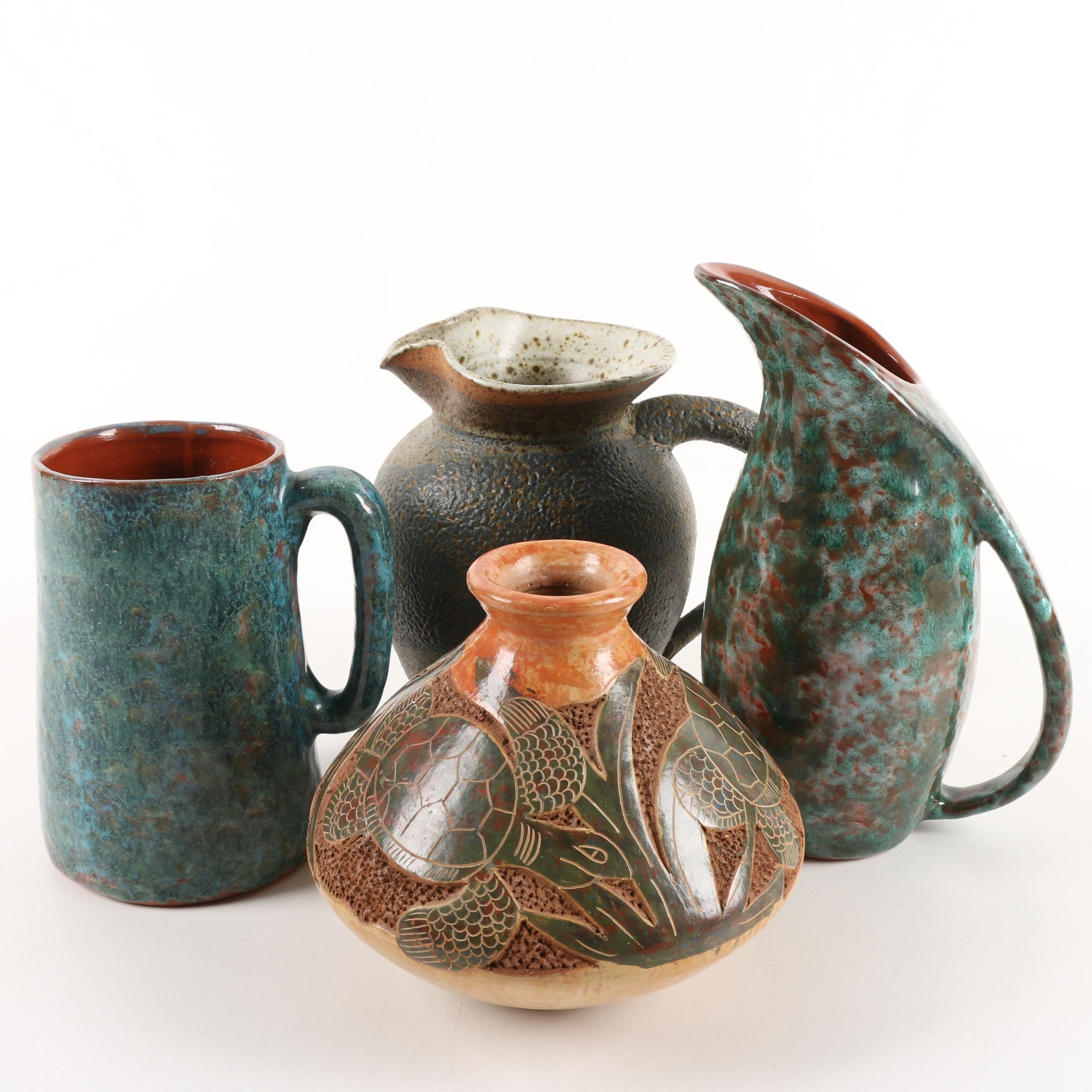 Functional Art Pottery Vessels including Prince Edward Island Burlington