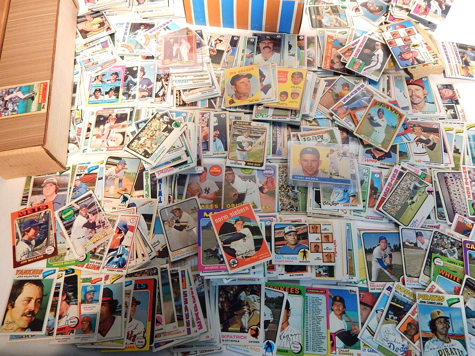 Large Topps Baseball Card Collection from 1950s through 1980s with Berra, Ruth