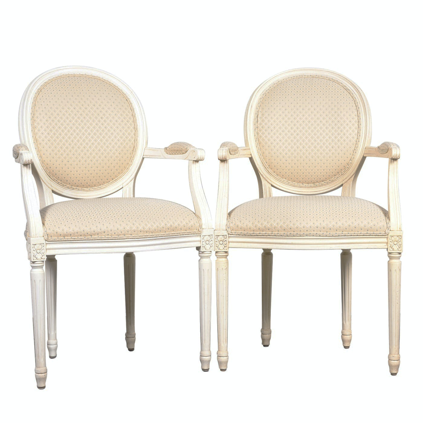 """Louis XVI Style """"Chrystiane"""" armchairs by Ethan Allen"""