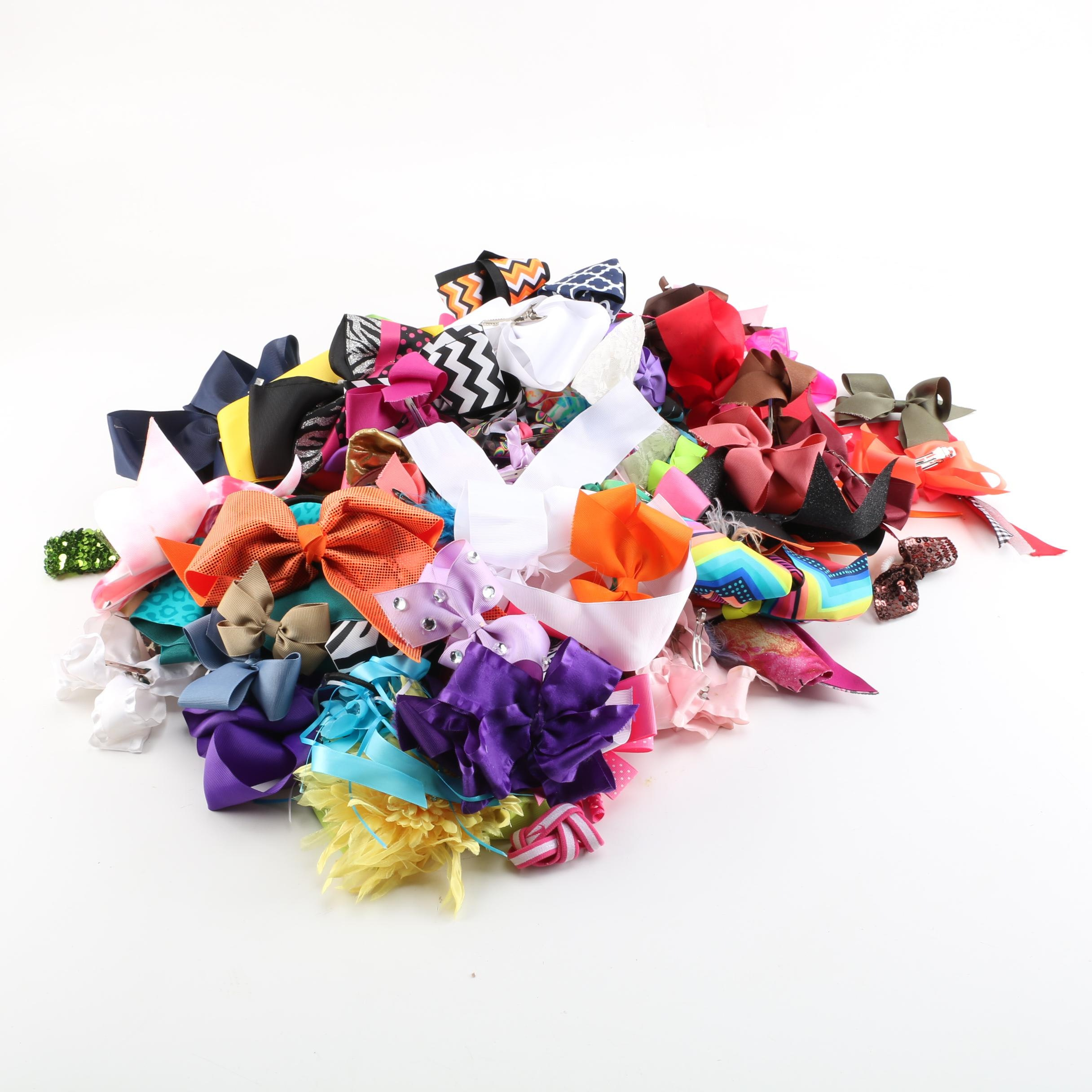 Girls' Extensive Hair Bow Collection