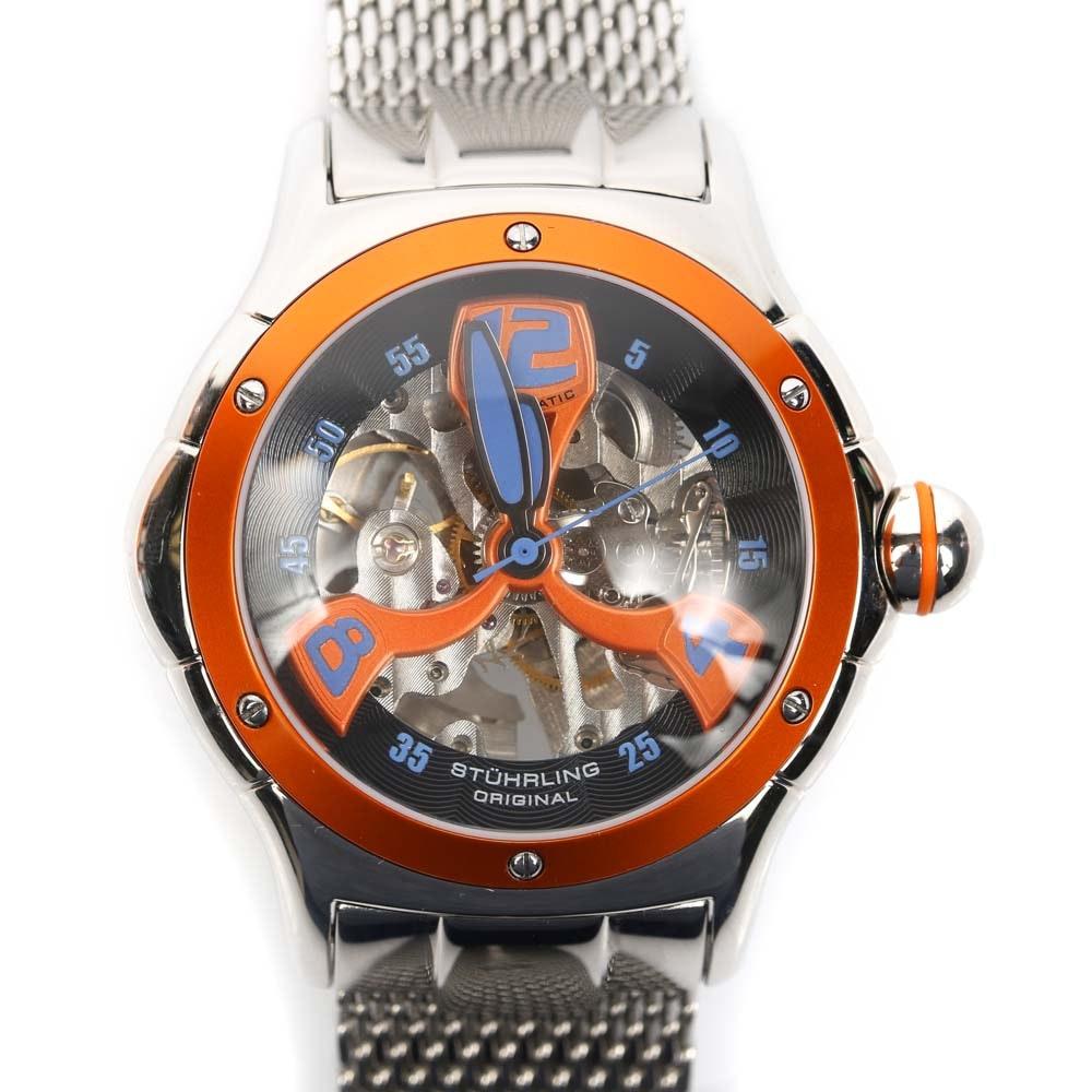 Stührling Original Automatic Skeleton Wristwatch