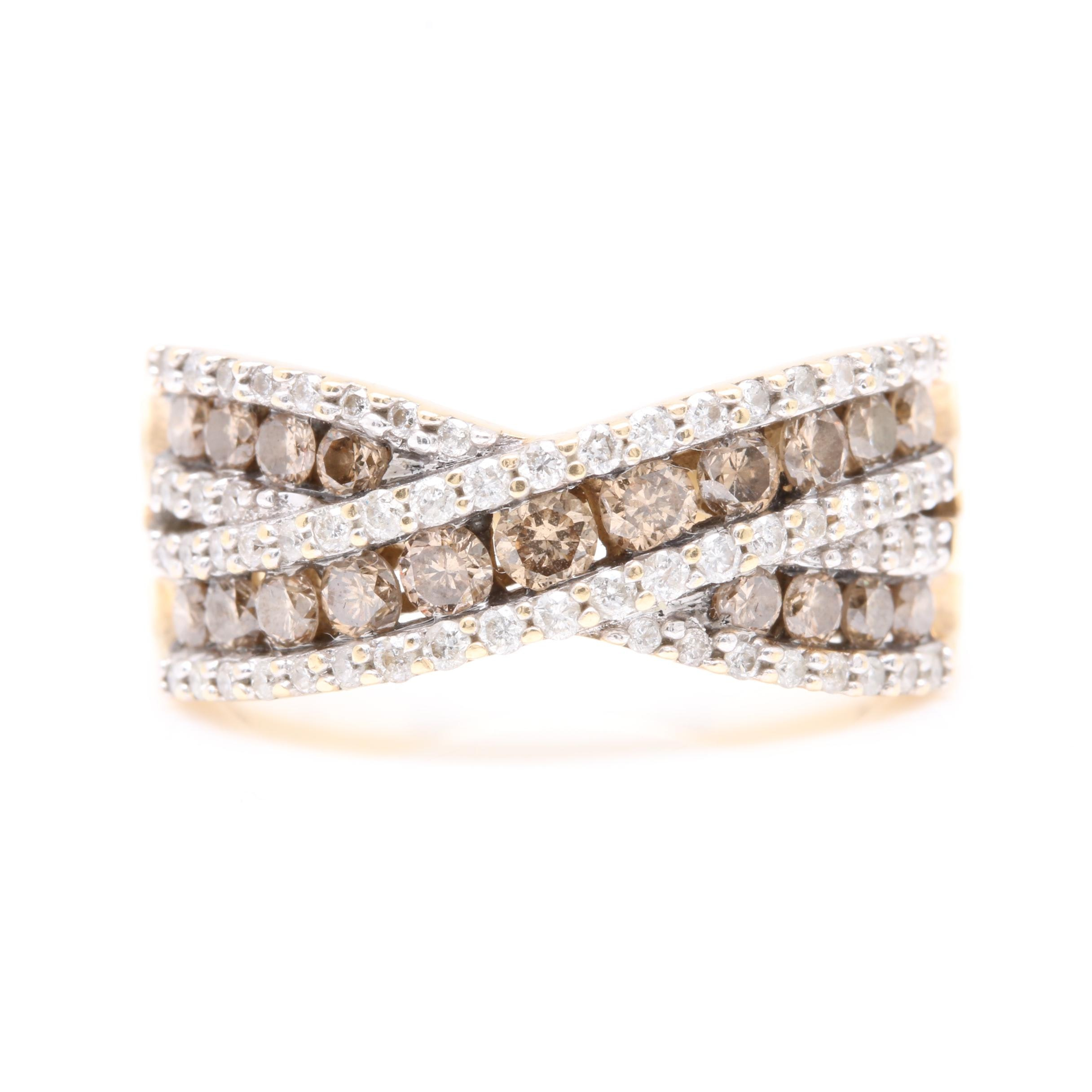 Kallati 10K Yellow Gold 1.21 CTW Diamond Ring