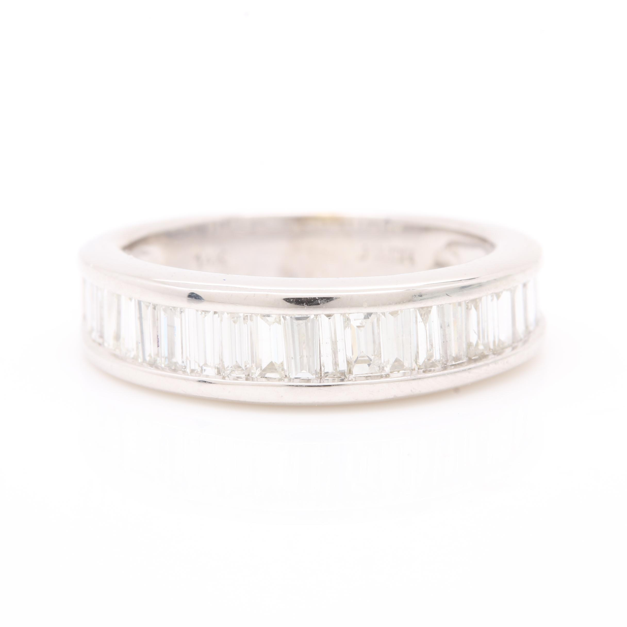 14K White Gold 1.00 CTW Diamond Ring