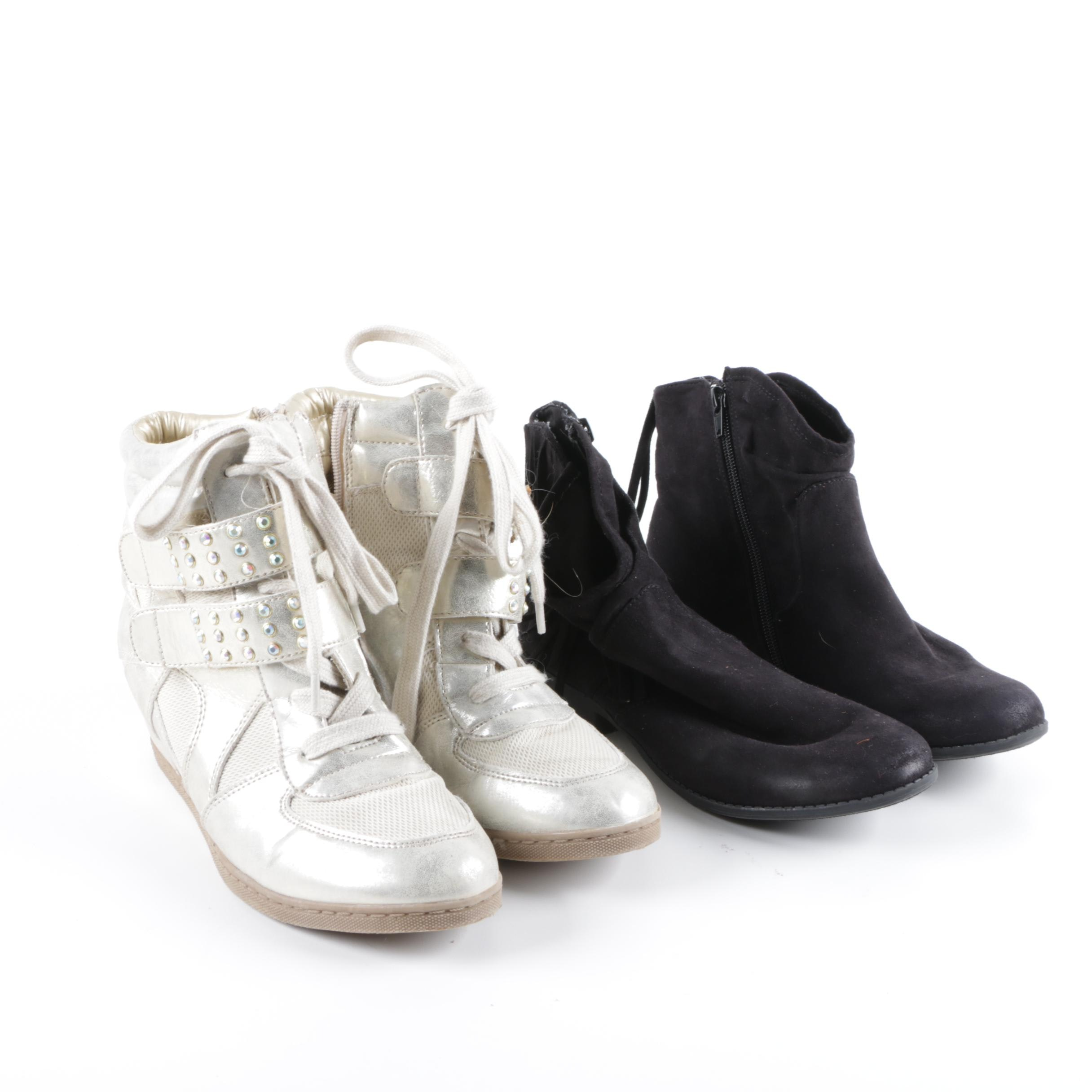 Women's Nine West Ankle Booties and Steve Madden Sneakers
