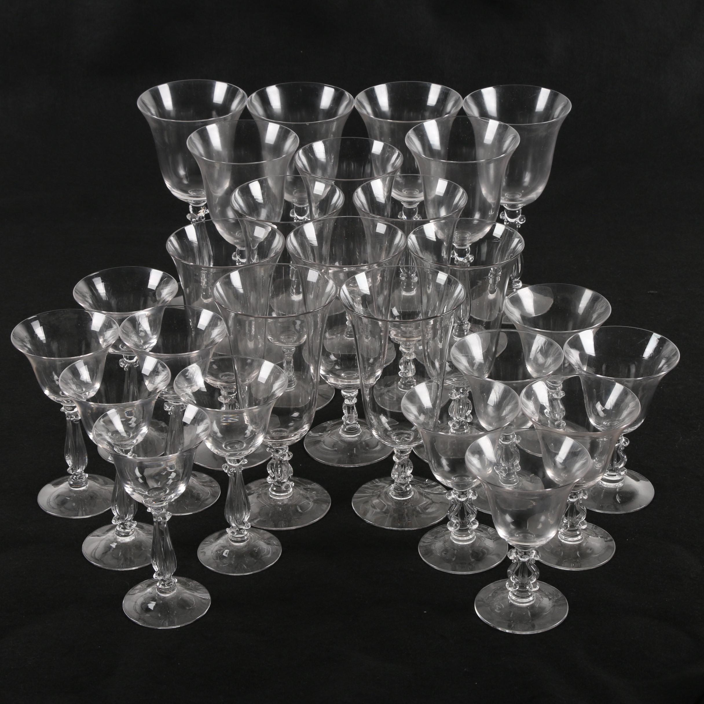 "Cambridge Regency Stradivari ""Lyre"" Stemware"