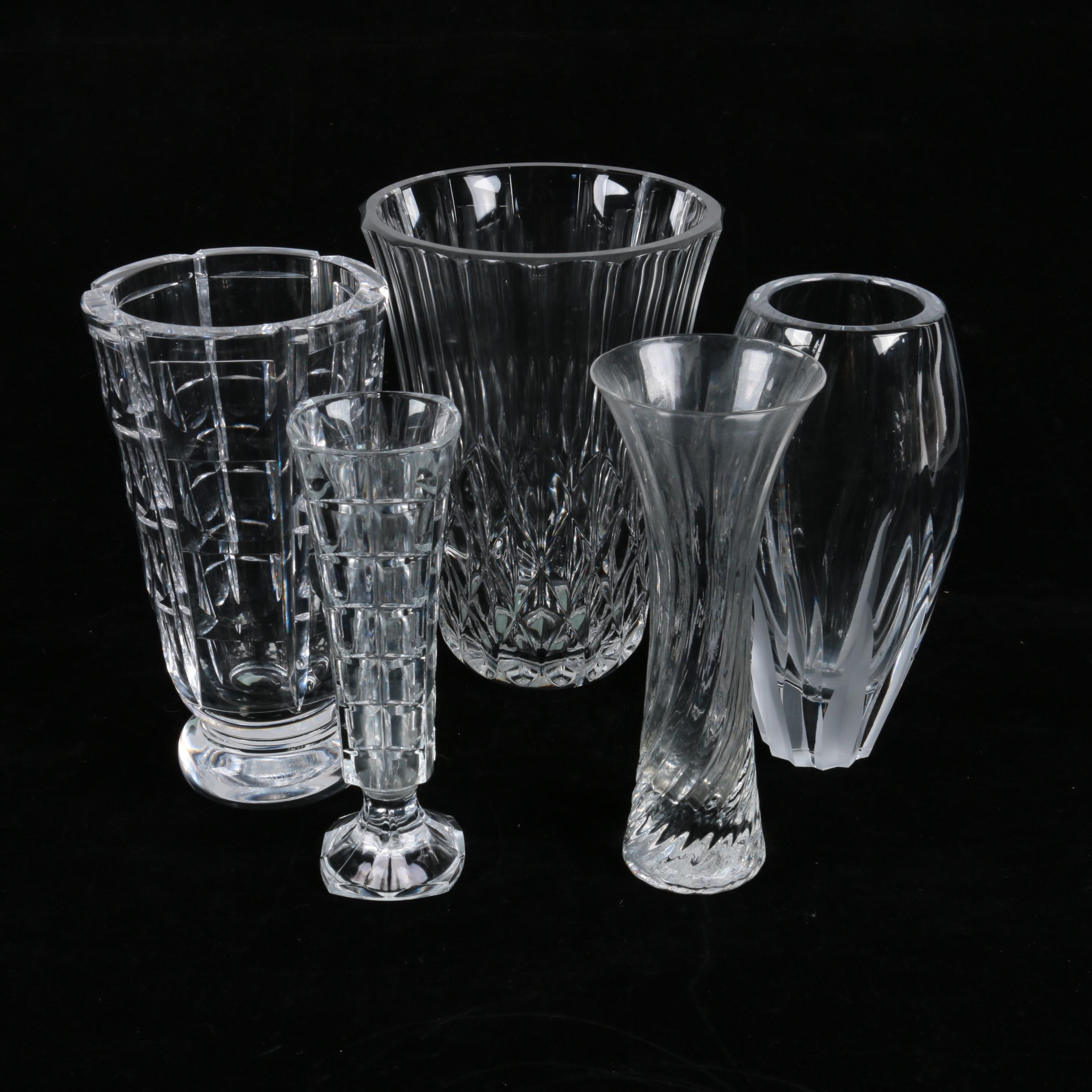 Crystal Vases Featuring Orrefors and Lenox