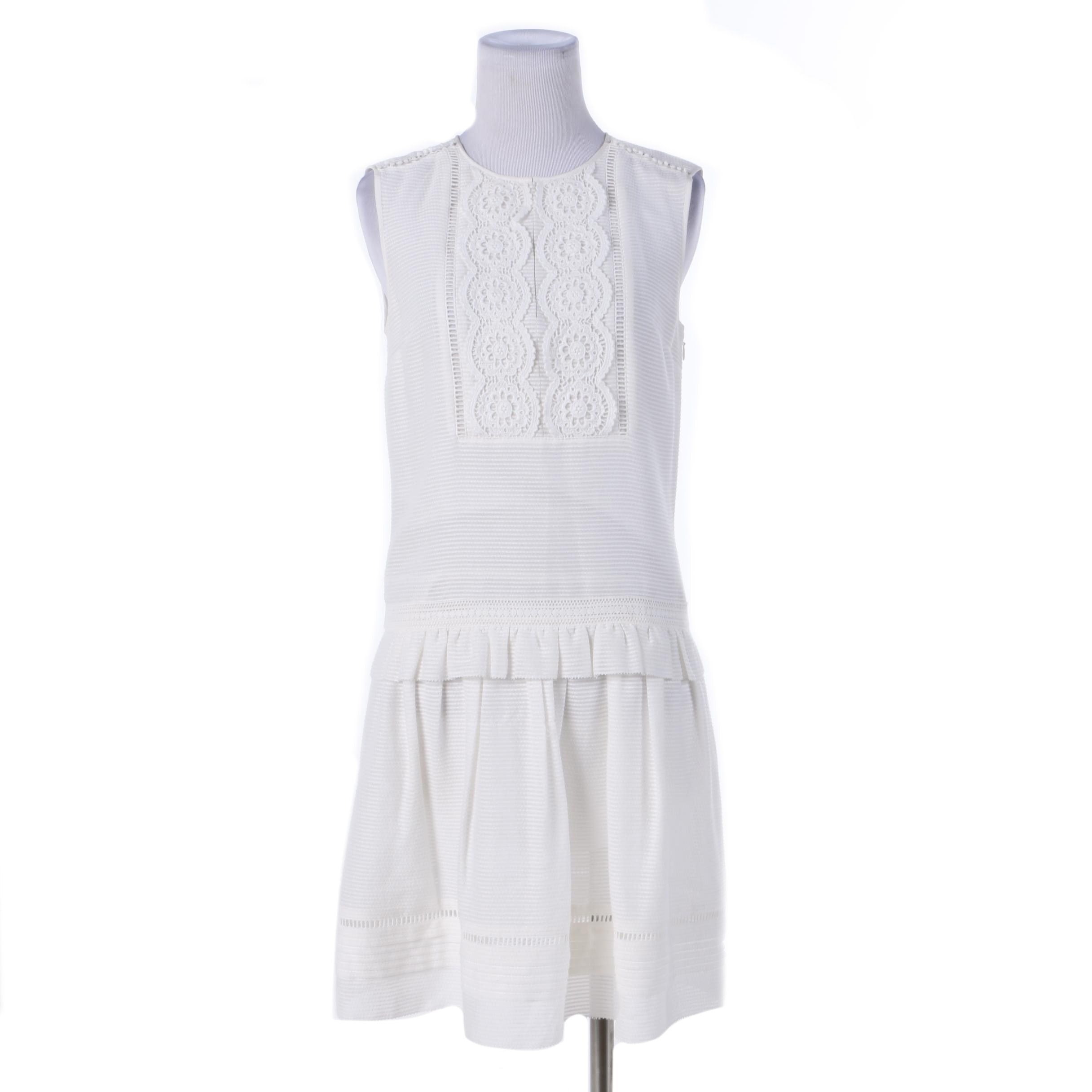 Women's Burberry White Sleeveless Dress