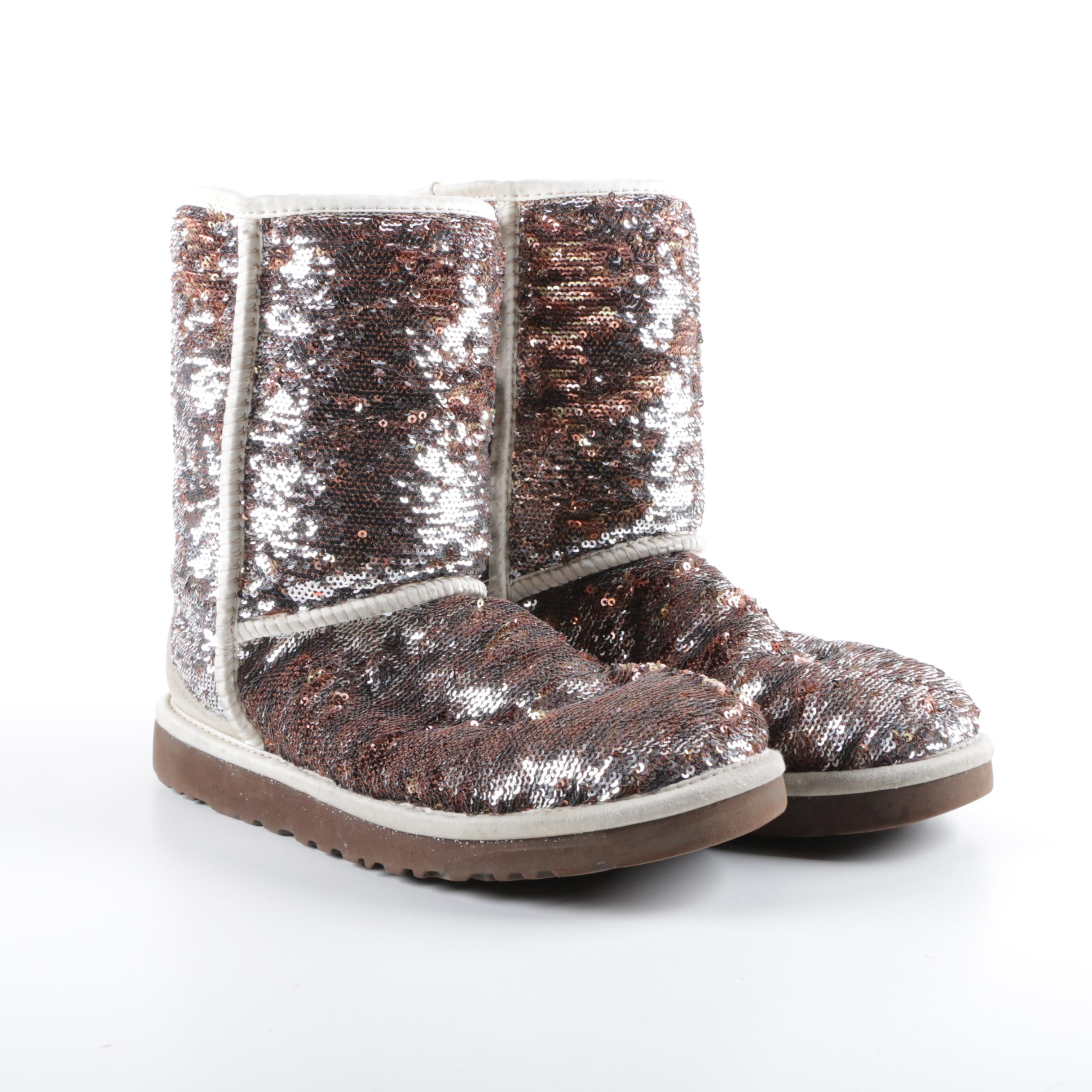 UGG Australia Mermaid Sequin and Suede Boots