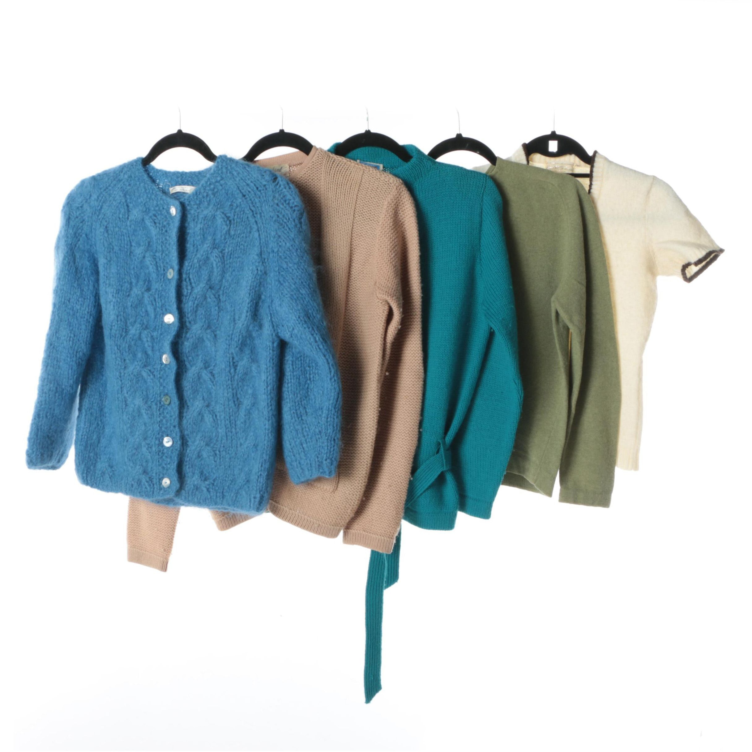 Women's Vintage Sweaters and Cardigans Including Woodward & Lothrop