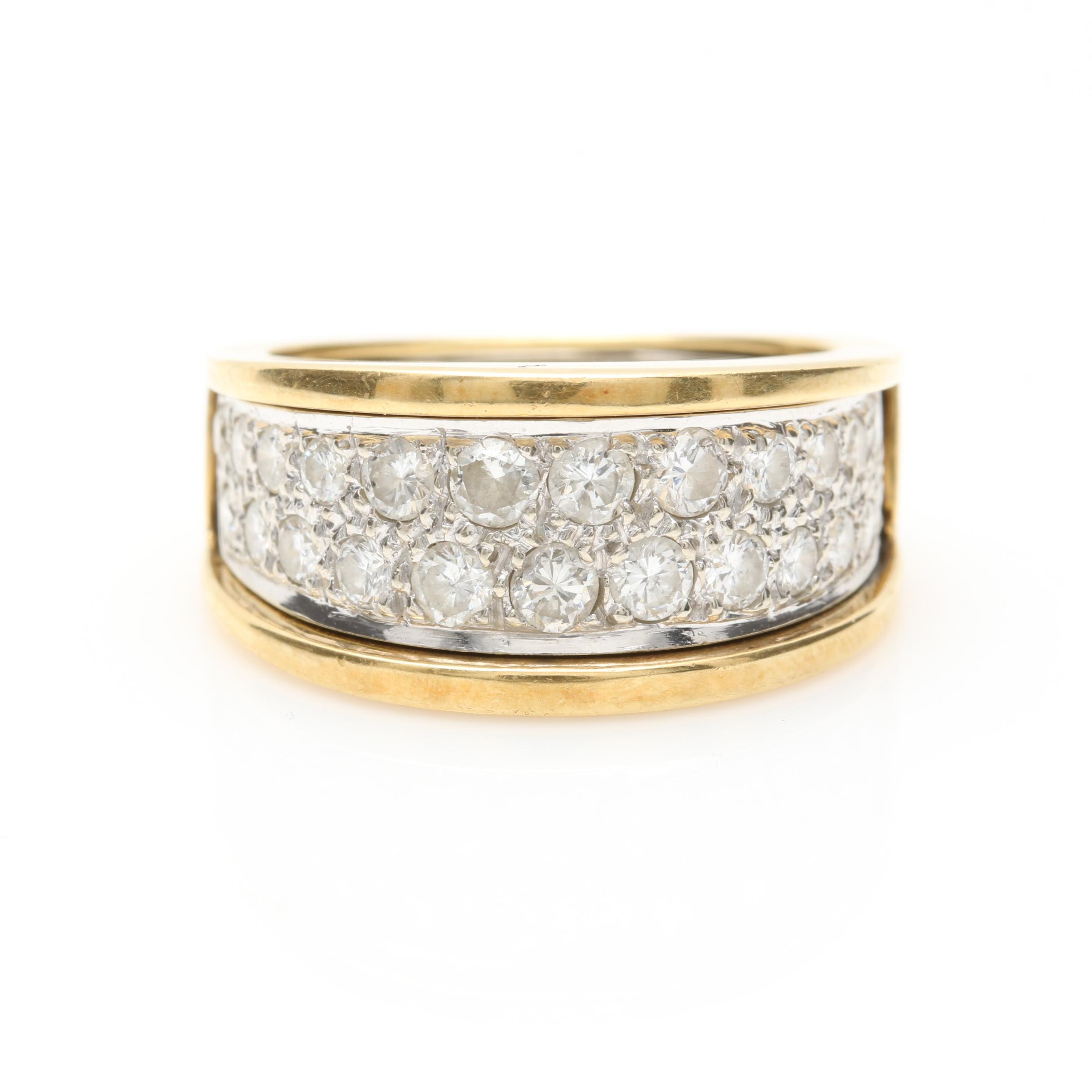 14K and 18K Two Tone 1.32 CTW Diamond Ring