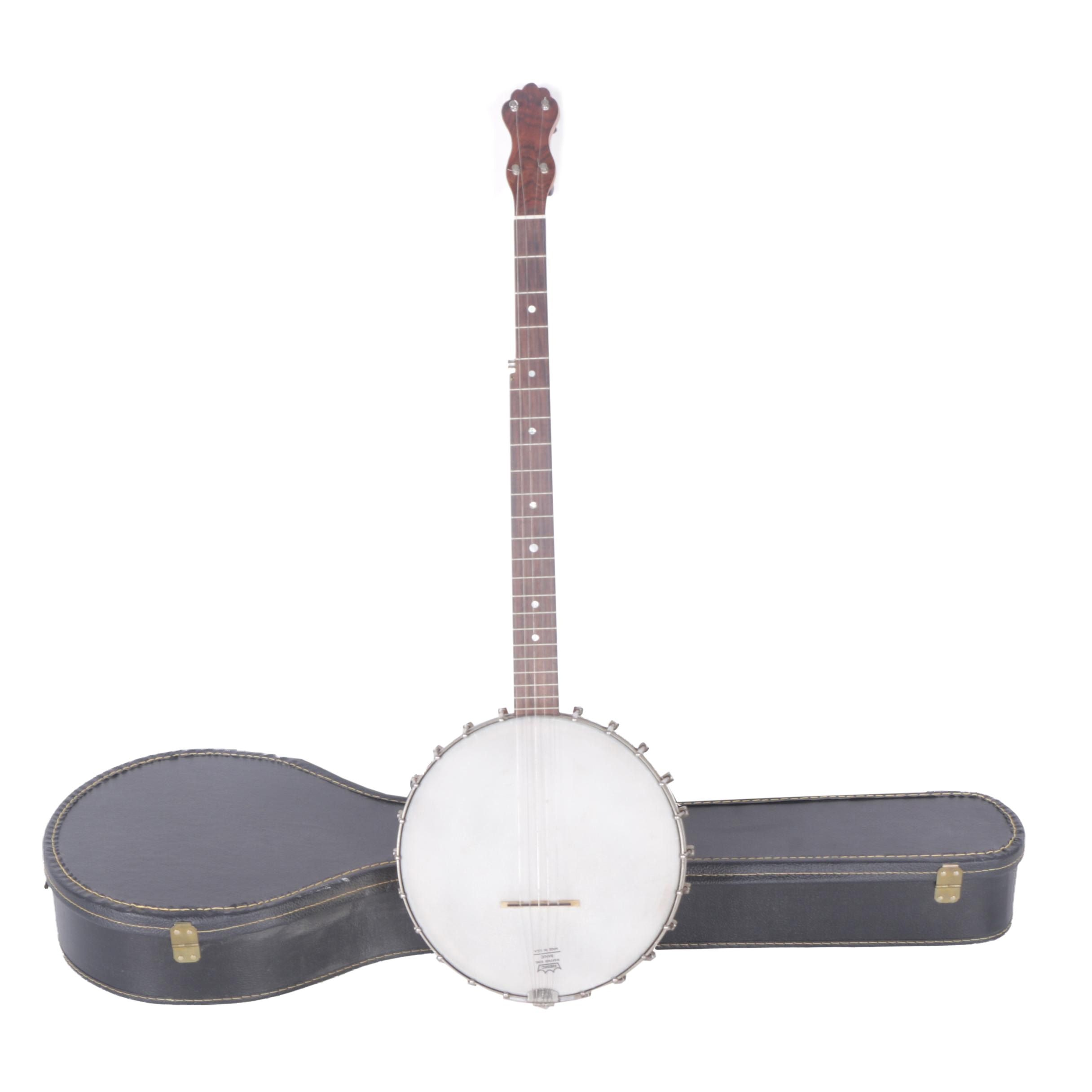 Five-String Openback Tenor Banjo with Hardshell Case