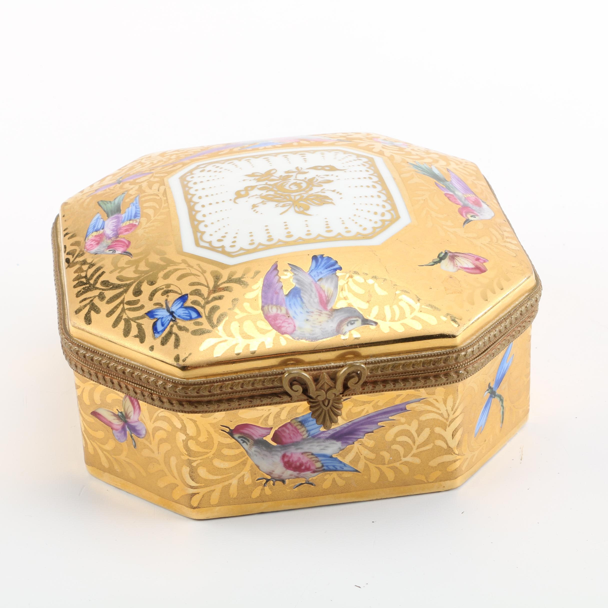 French Porcelain Trinket Box