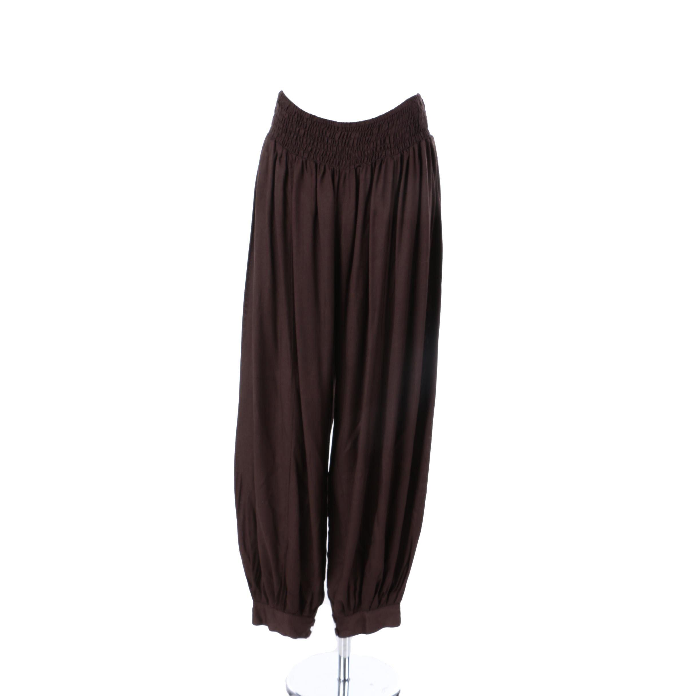 Women's Aller Simplement Brown Harem Pants