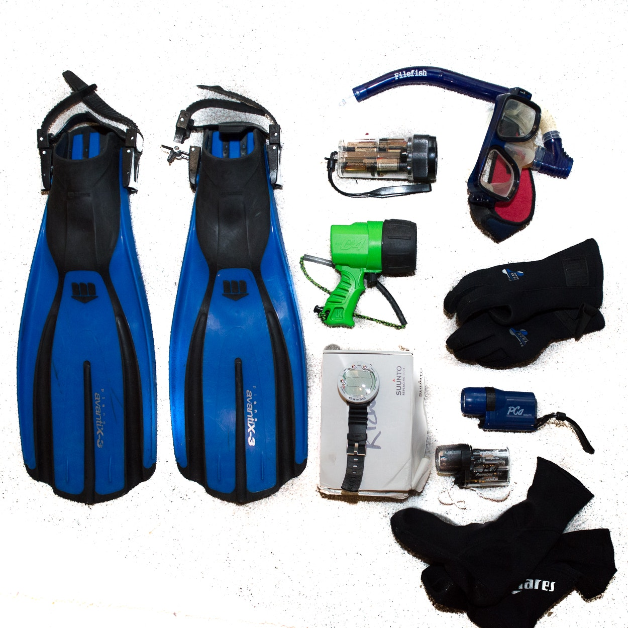 Water Sports, Including Diving Watches, Fins, Snorkles, Goggles and More