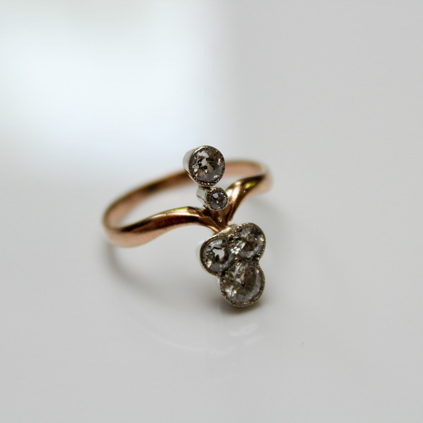 Early Victorian 14K Yellow Gold and 0.65 CTW Diamond Ring