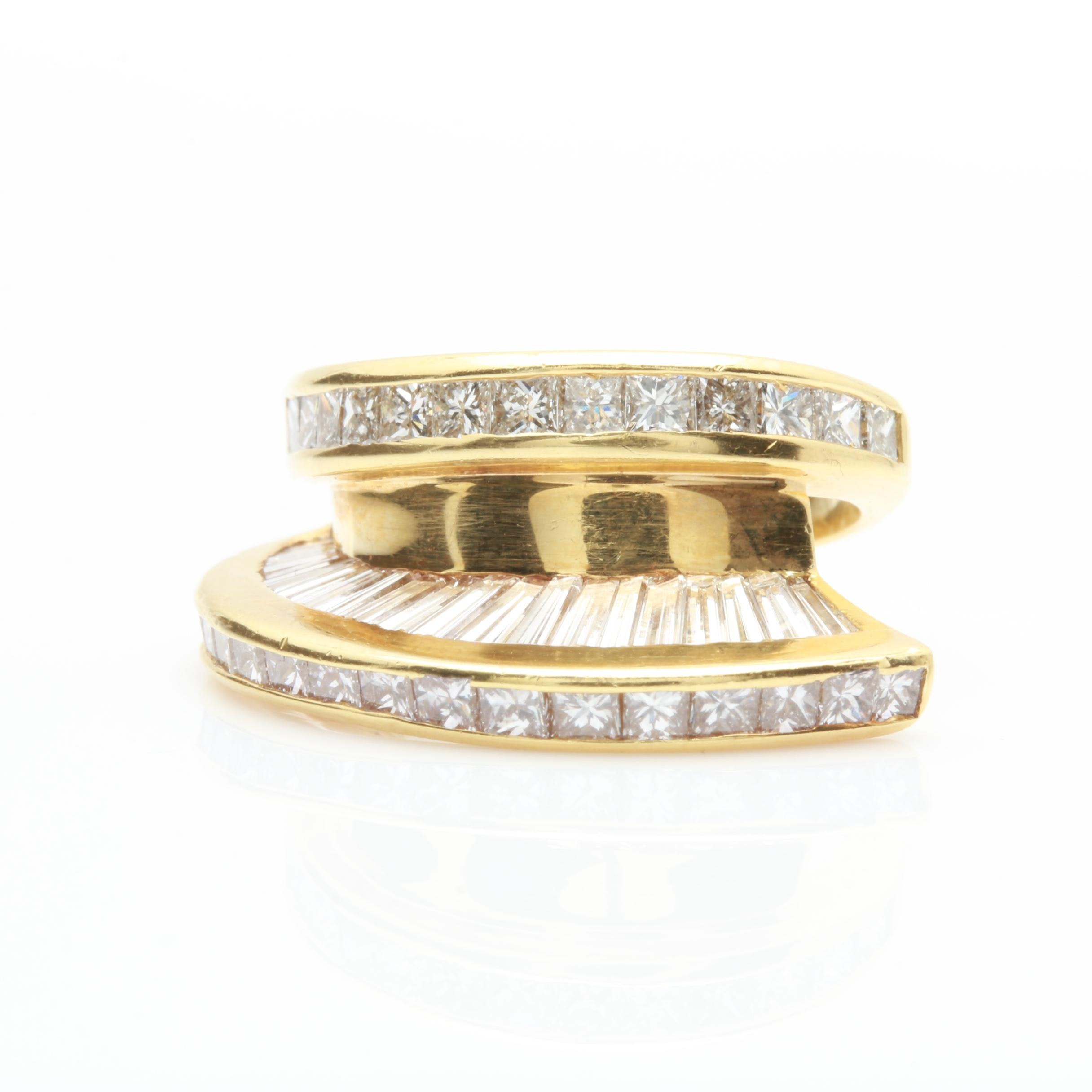 18K Yellow Gold 3.50 CTW Diamond Ring