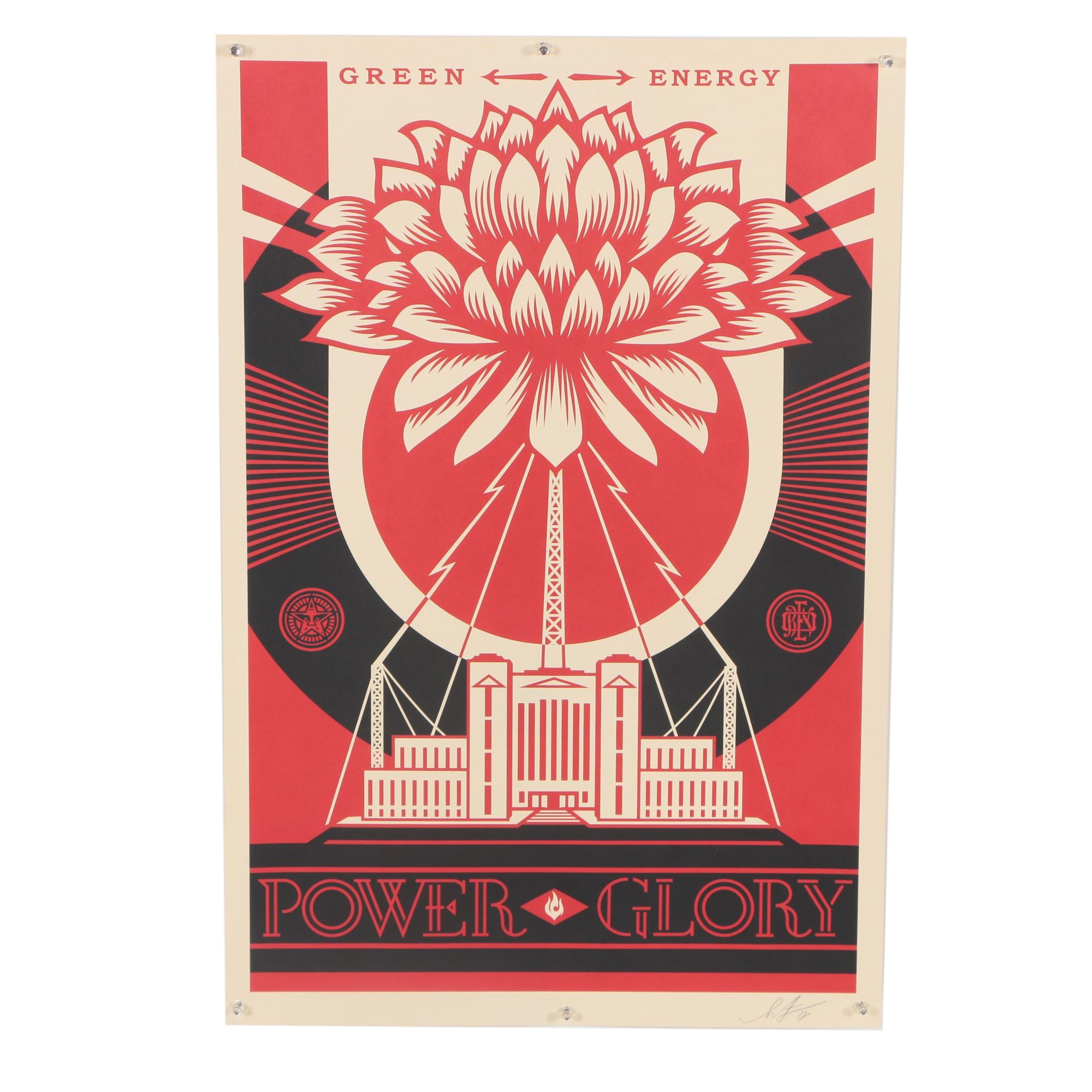 "Shepard Fairey Offset Print ""Green Power"""