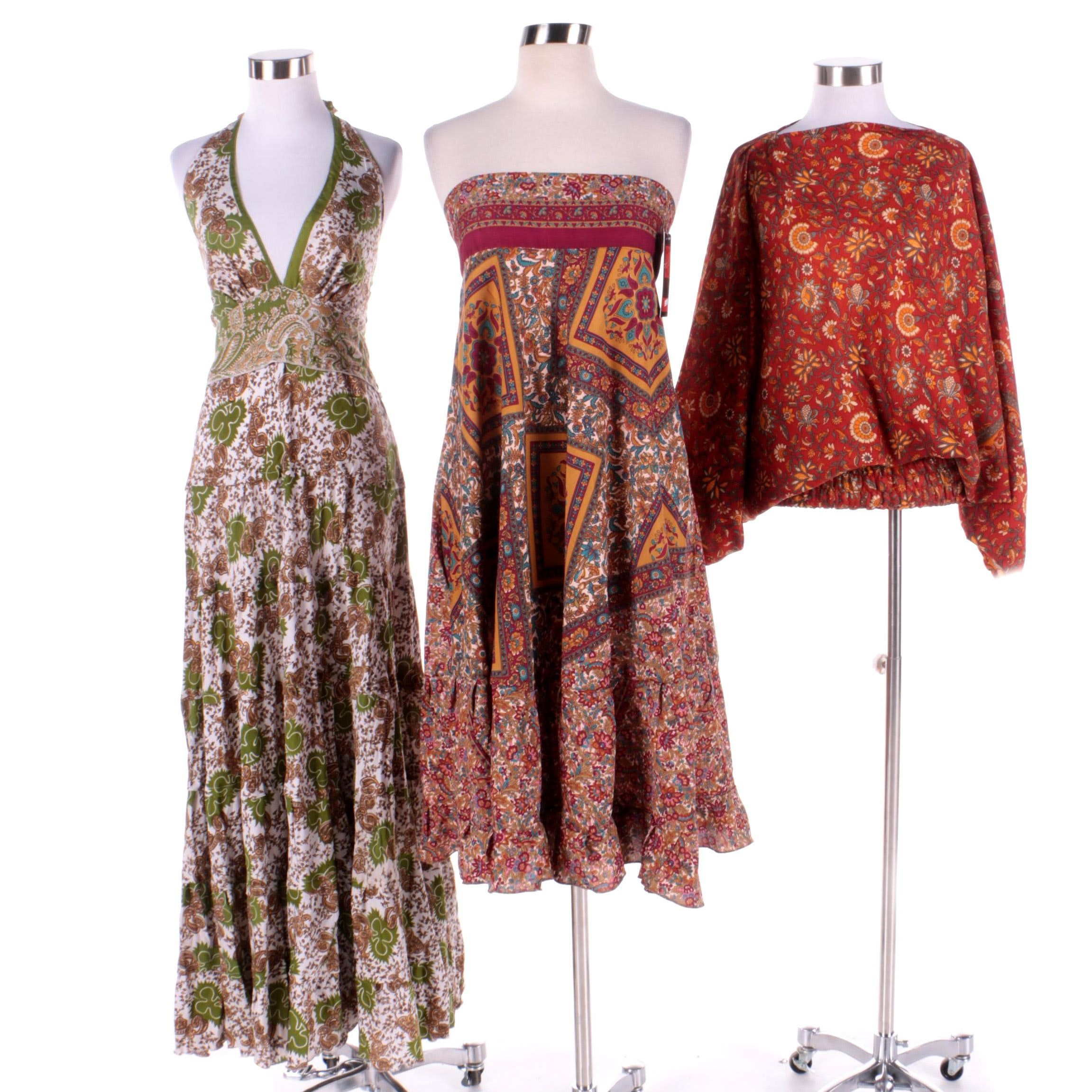 Aller Simplement Dresses and 3-in-1 Garment Made from Upcycled Vintage Saris