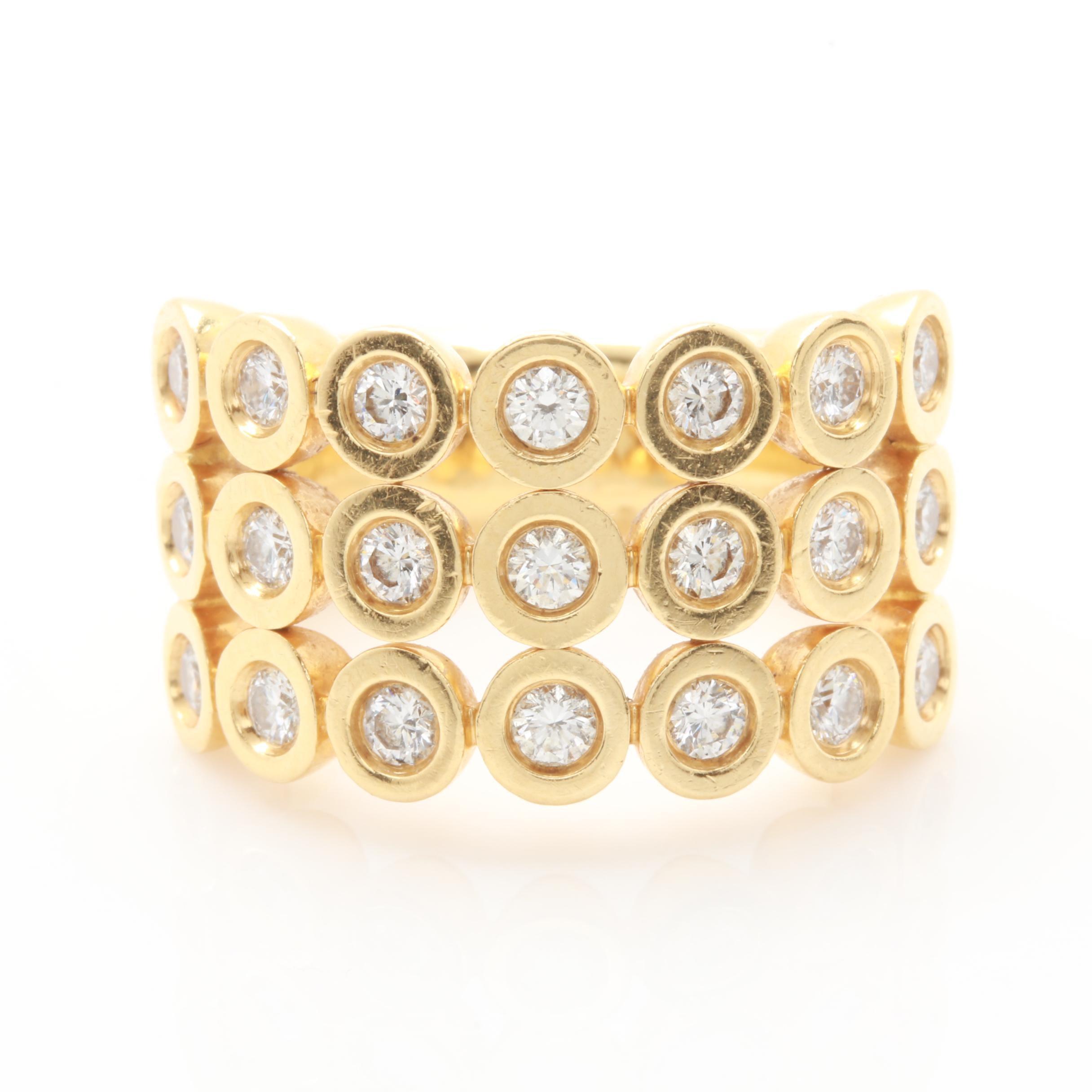 18K Yellow Gold 1.05 CTW Diamond Ring